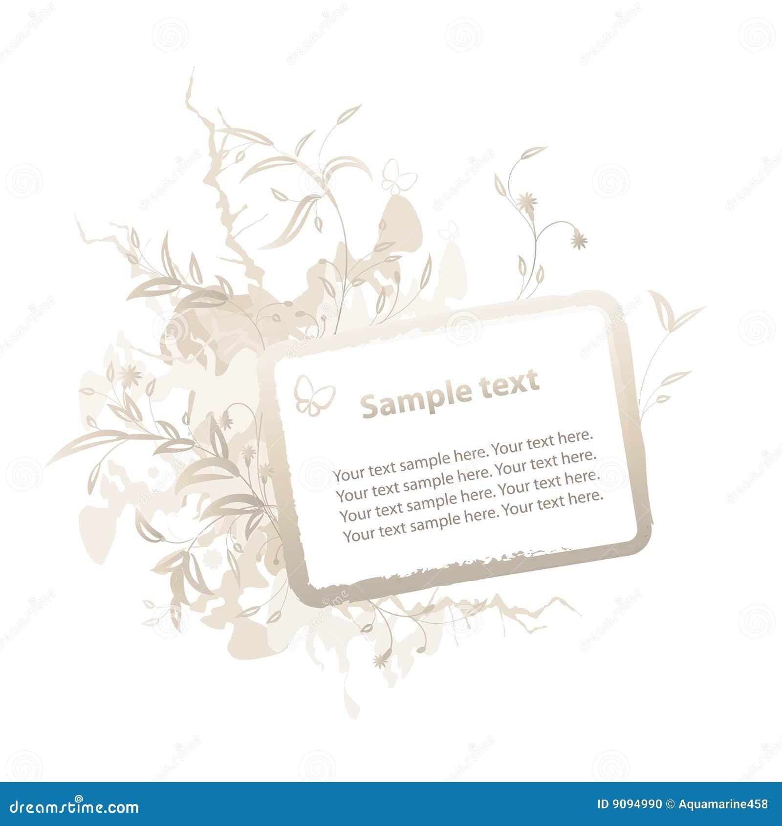 BlumenGrunge Feld für Text