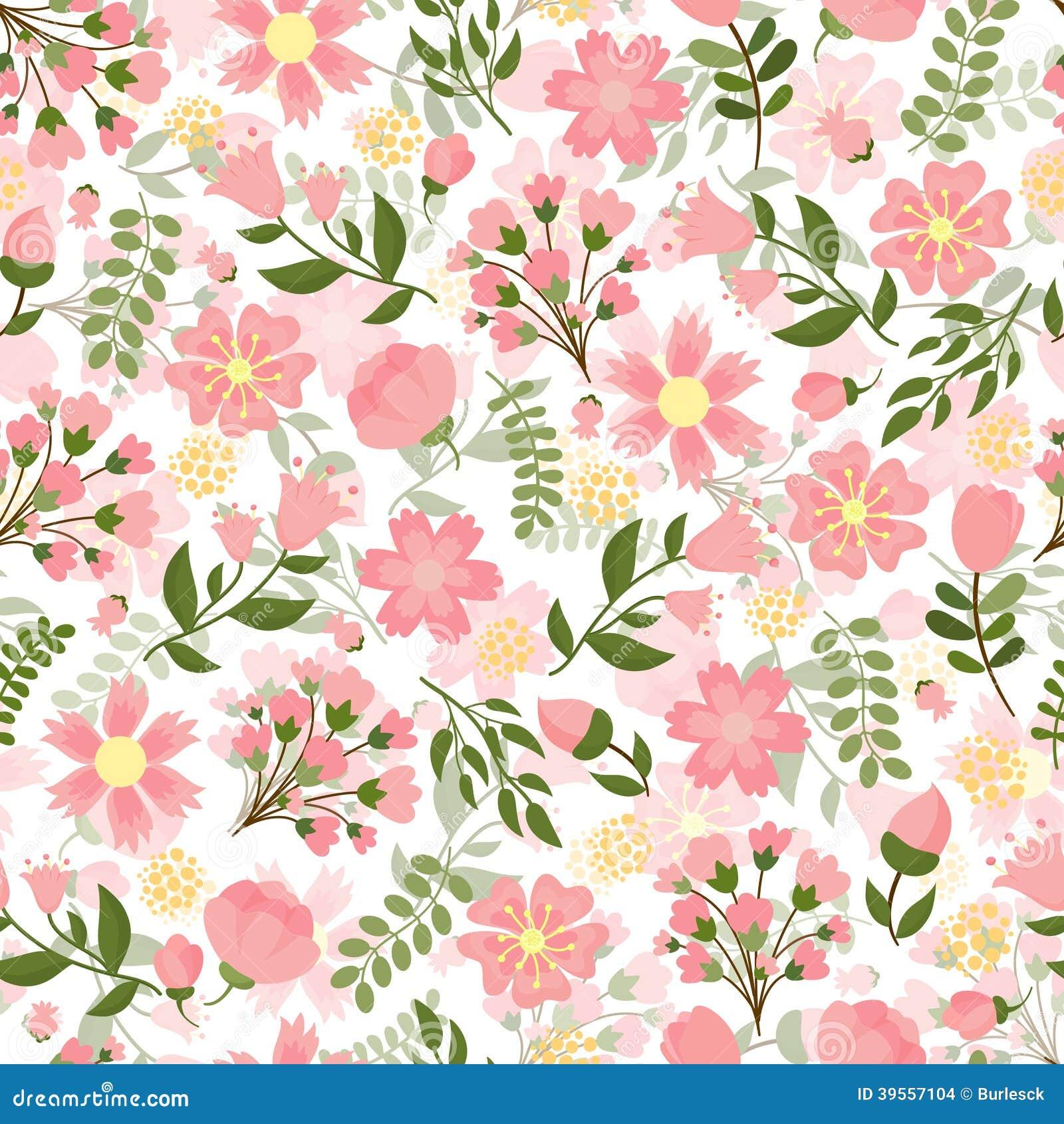 Blumenhintergrund des nahtlosen Frühlinges