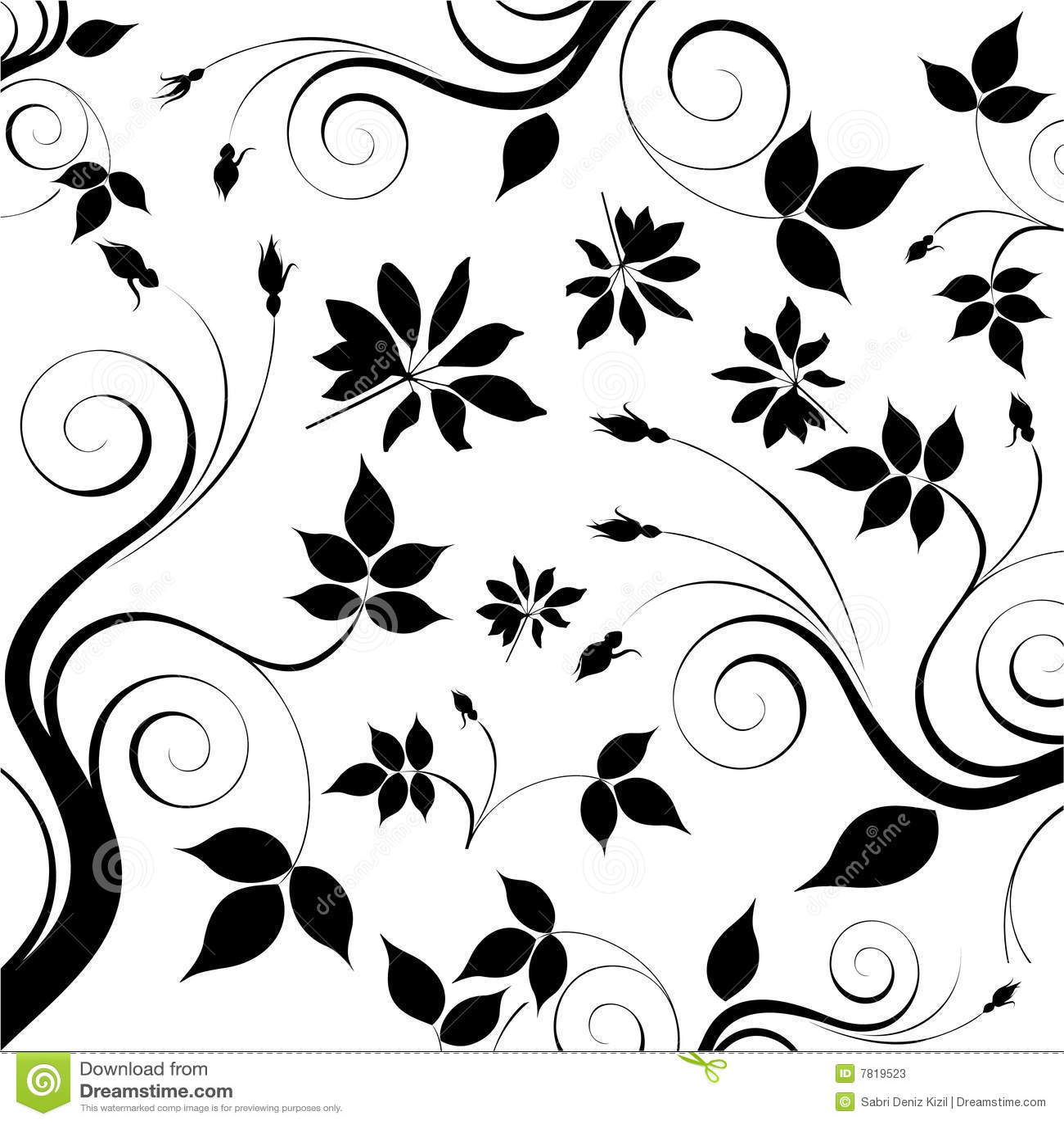 Blumenhintergrundvektor