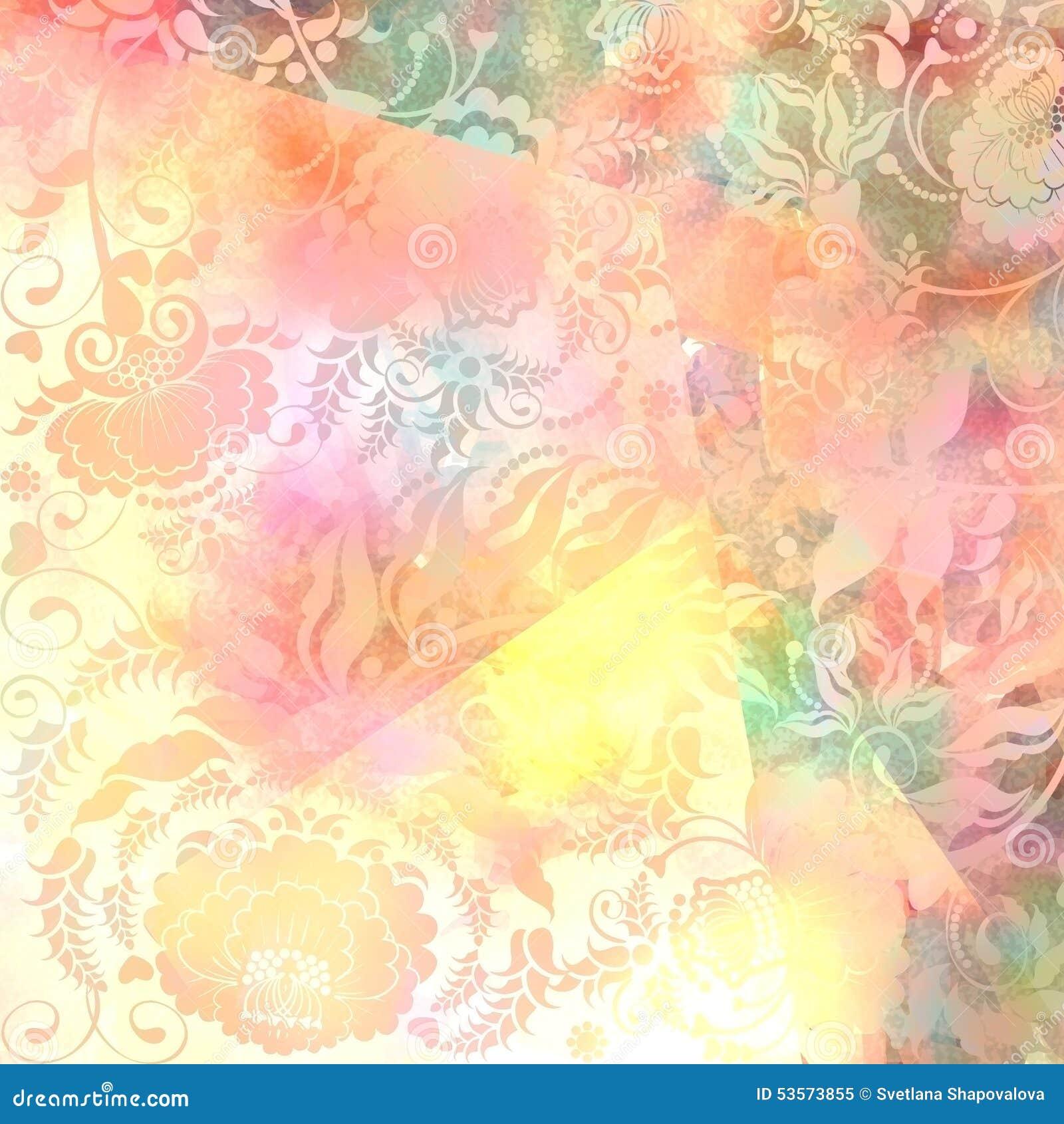 blumenmuster rosa grauer pastell gef rbt hintergrund stock abbildung bild 53573855. Black Bedroom Furniture Sets. Home Design Ideas
