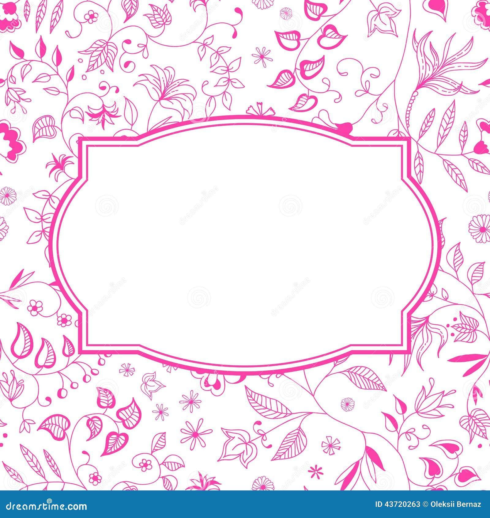 Blumenmuster-Rosa-Hintergrund Vektor Abbildung - Bild: 43720263