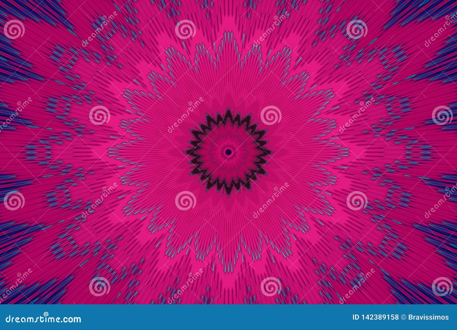Blumenmusterblumenkaleidoskopamarant graphiken