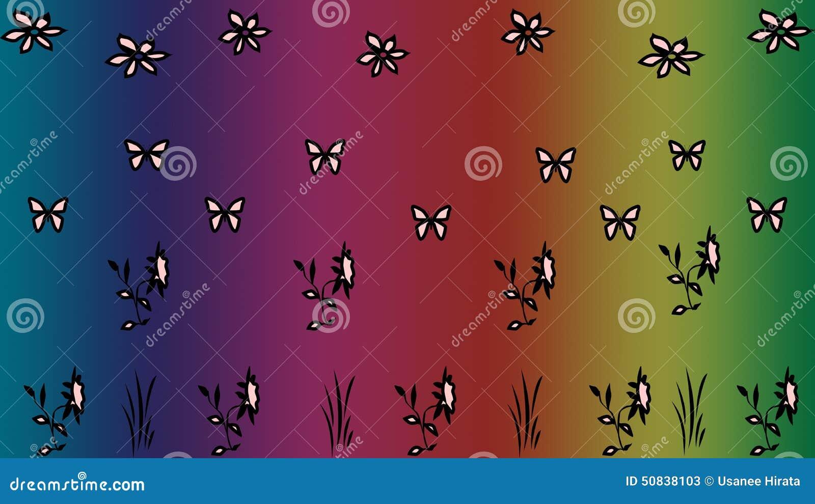 Blumenmusterzusammenfassungshintergrund