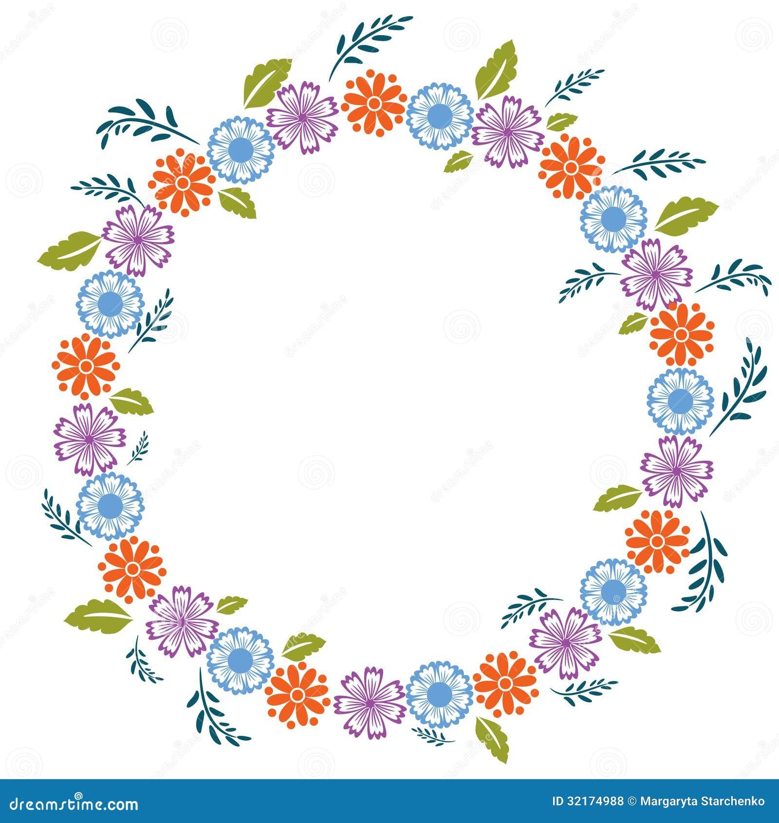 blumenrahmen stockfoto bild von dekoration floral gru 32174988. Black Bedroom Furniture Sets. Home Design Ideas