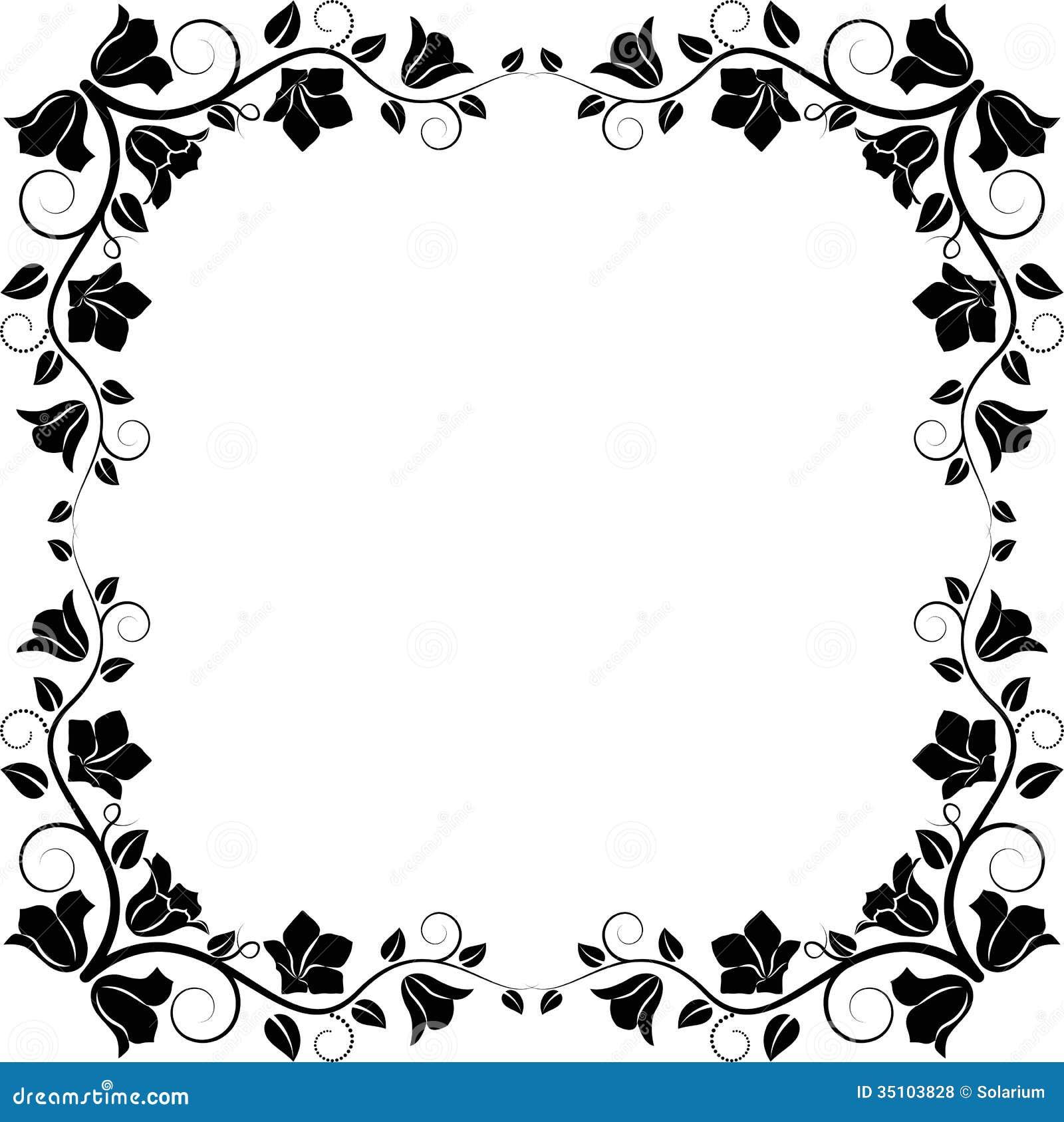 blumenrahmen vektor abbildung bild von verzierung profil 35103828. Black Bedroom Furniture Sets. Home Design Ideas