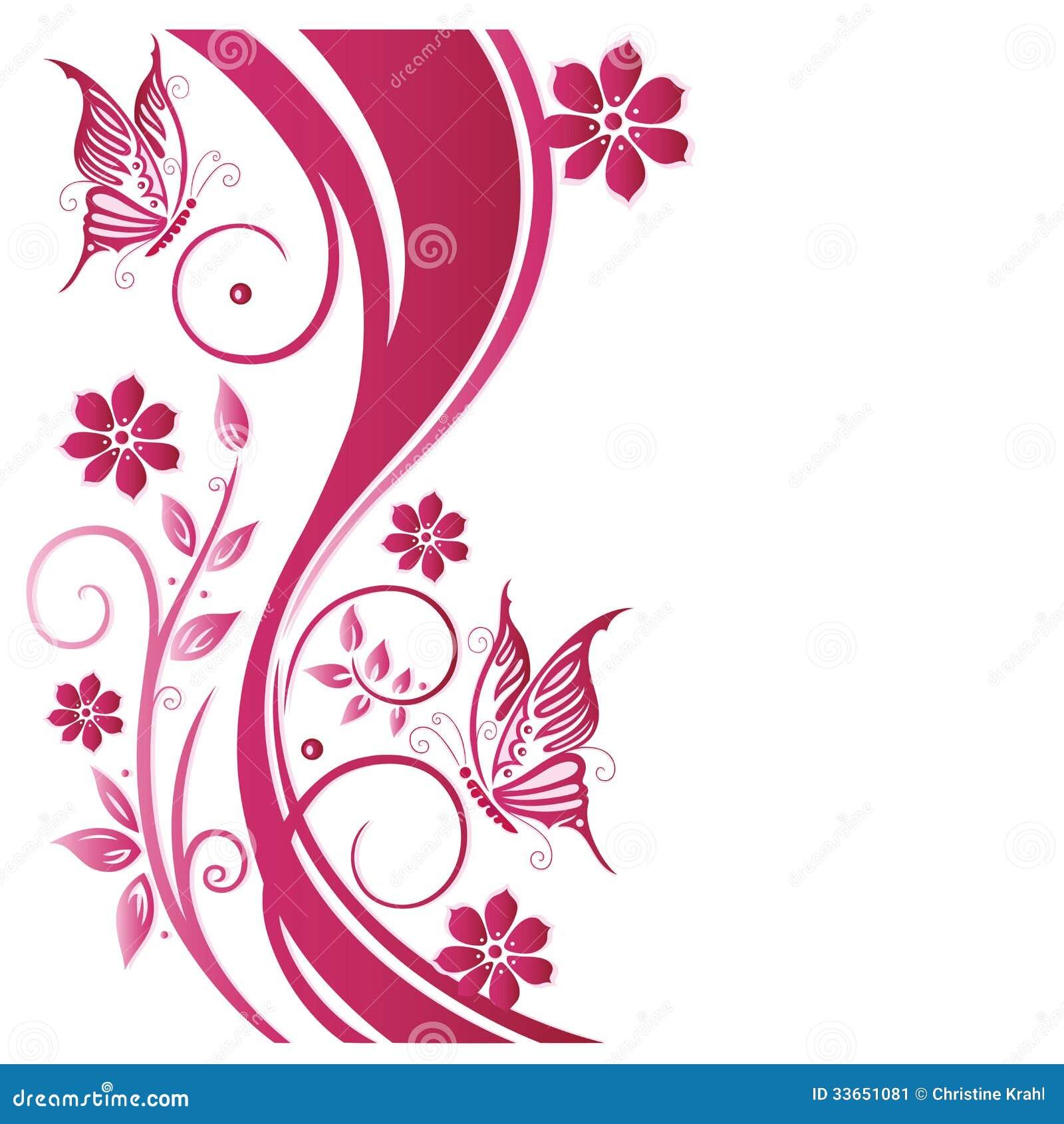 blumenranke blumen rosa stockbild bild 33651081. Black Bedroom Furniture Sets. Home Design Ideas