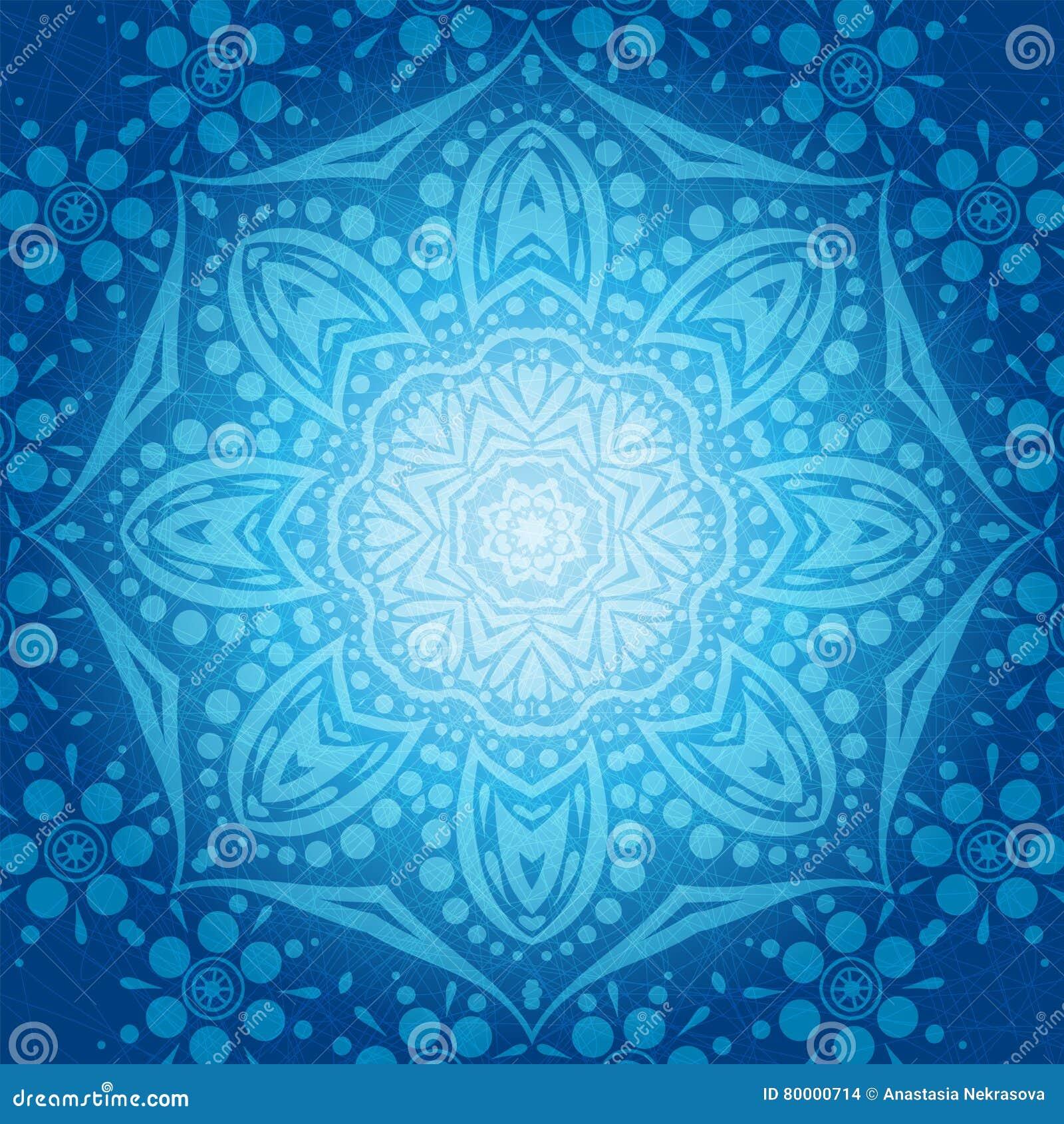 Blumenrundschreibenhintergrund Eine stilisierte Zeichnung mandala Stilisierte Spitzeverzierung Indische Blumenverzierung
