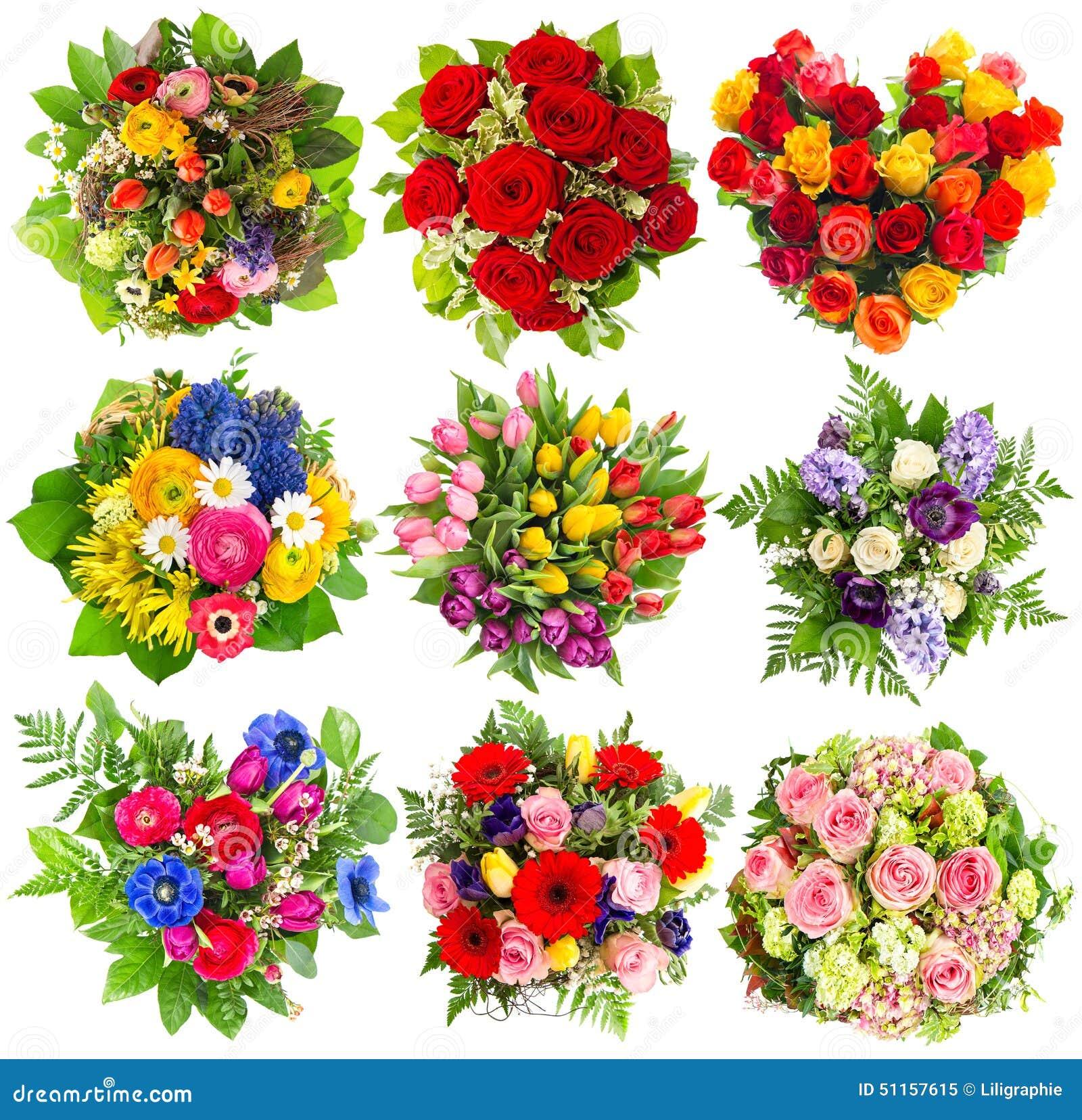 Blumenstrausse Von Bunten Blumen Fur Geburtstag Hochzeit Ostern