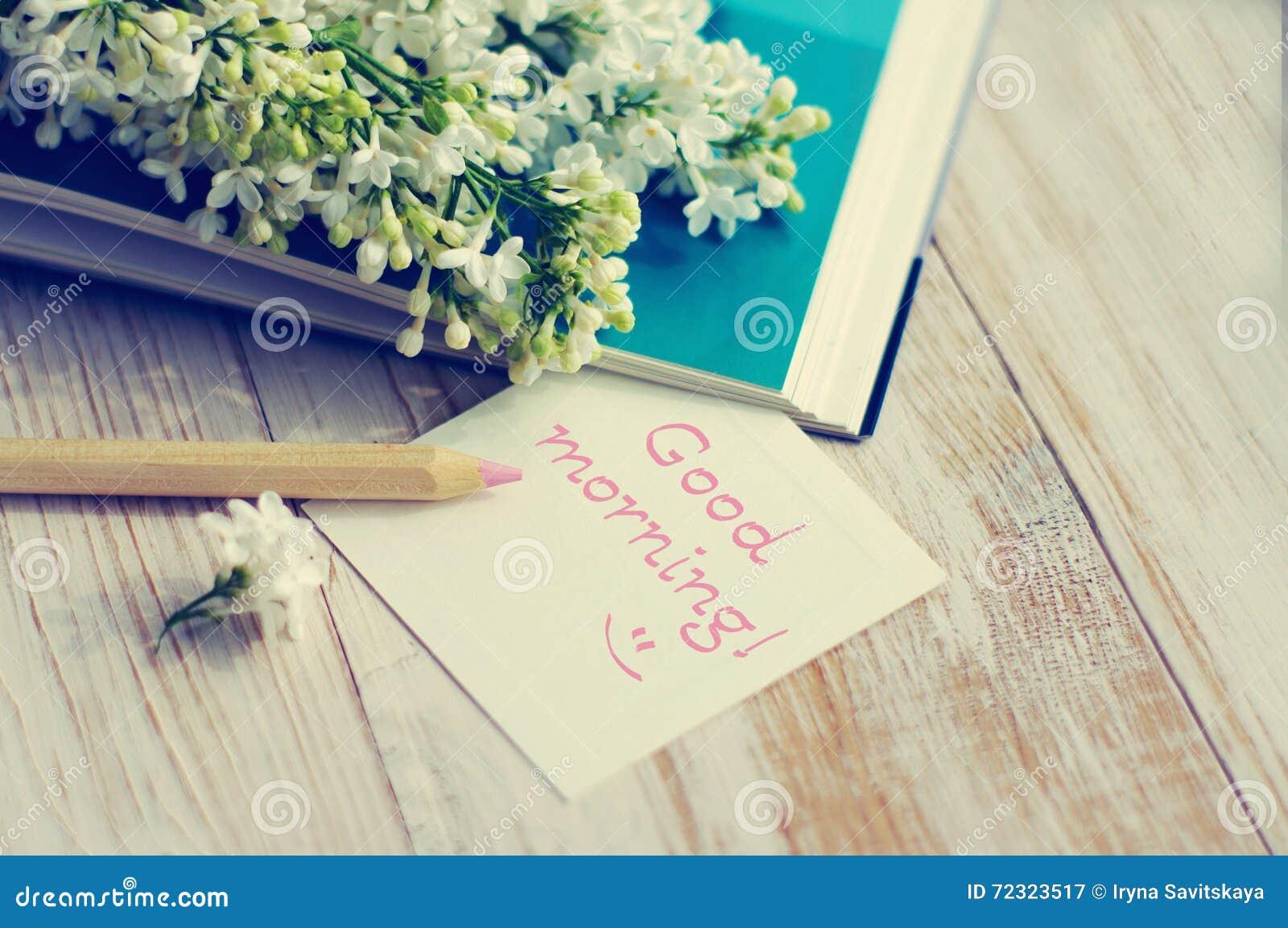 Blumenstrauß Einer Weißen Flieder Auf Dem Offenen Buch
