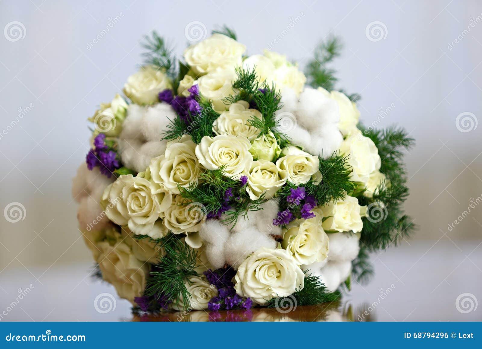 Blumenstrauss Von Blumen Fur Die Braut An Der Hochzeit Dekoration Von
