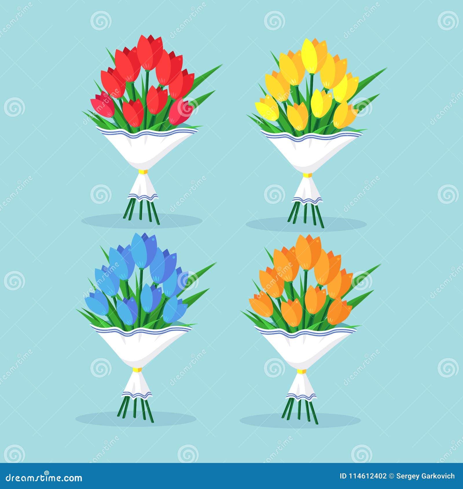Blumenstraußsatz der roten Tulpe, Rosen, Blumenstrauß Geschenk, Geschenk, Überraschung für Mütter