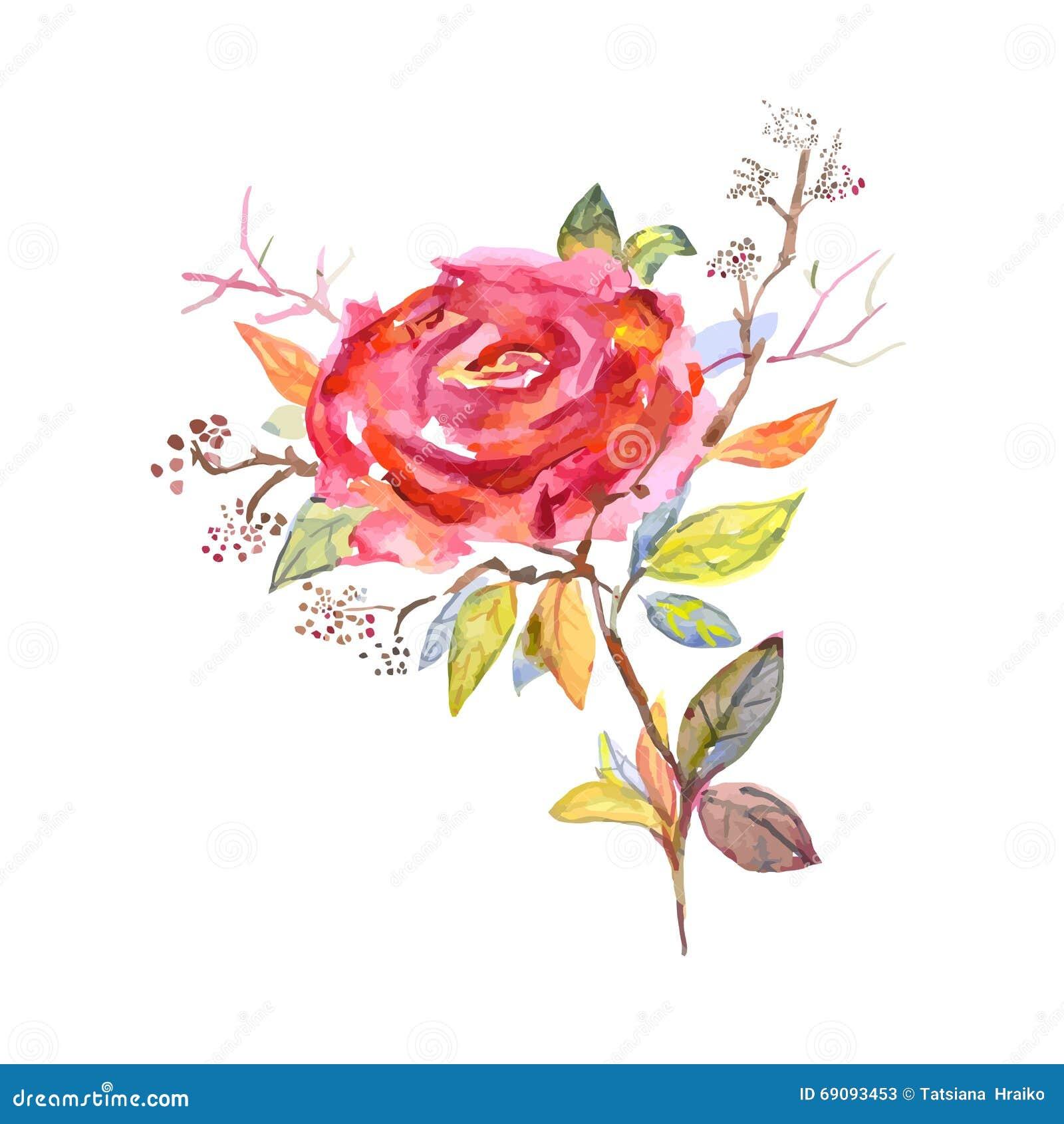blumenstrau von rosen aquarell kann als gru karte benutzt werden geburtstag und anderer. Black Bedroom Furniture Sets. Home Design Ideas