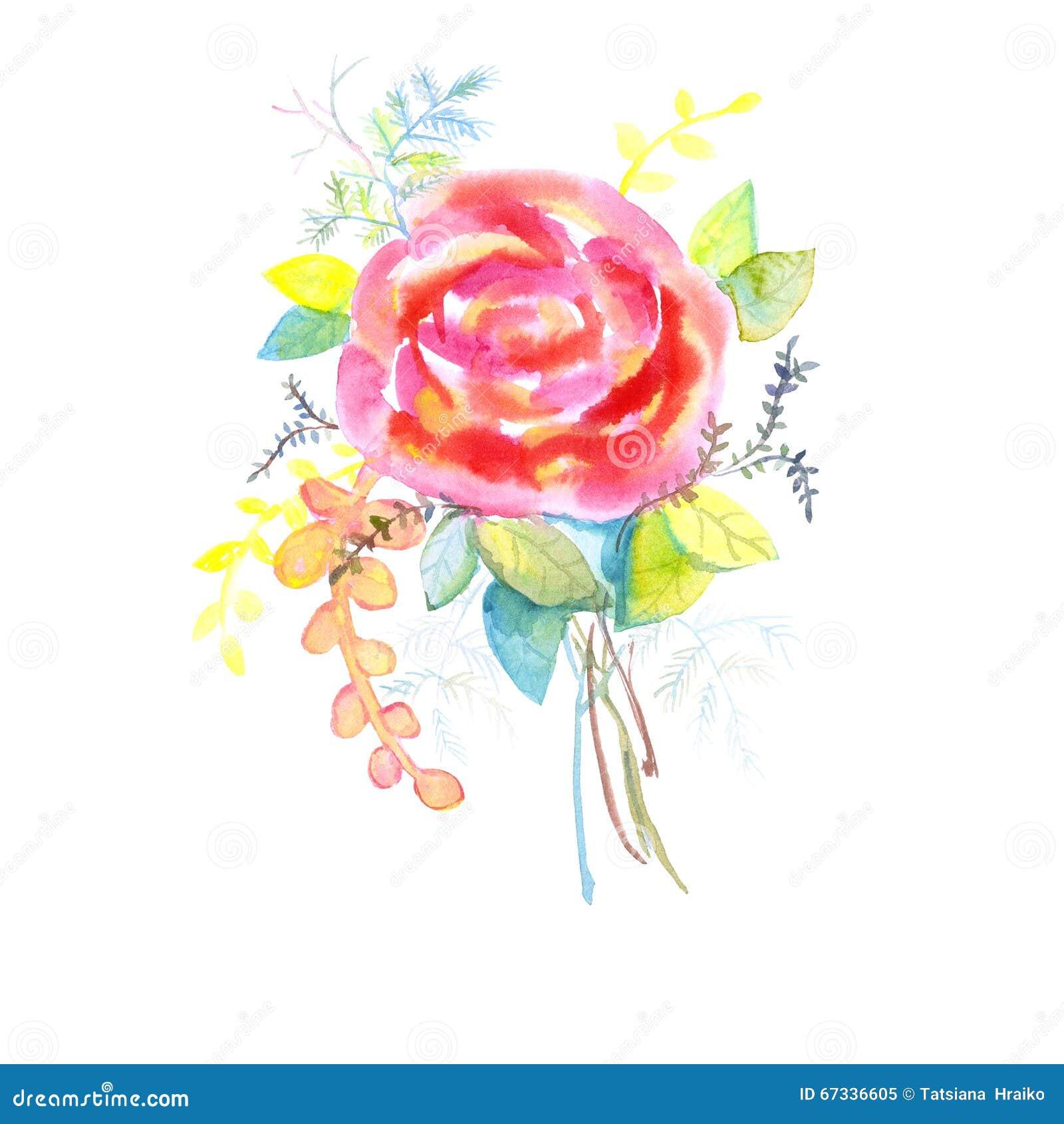 blumenstrau von rosen aquarell kann als gru karte einladungskarte f r die heirat benutzt. Black Bedroom Furniture Sets. Home Design Ideas