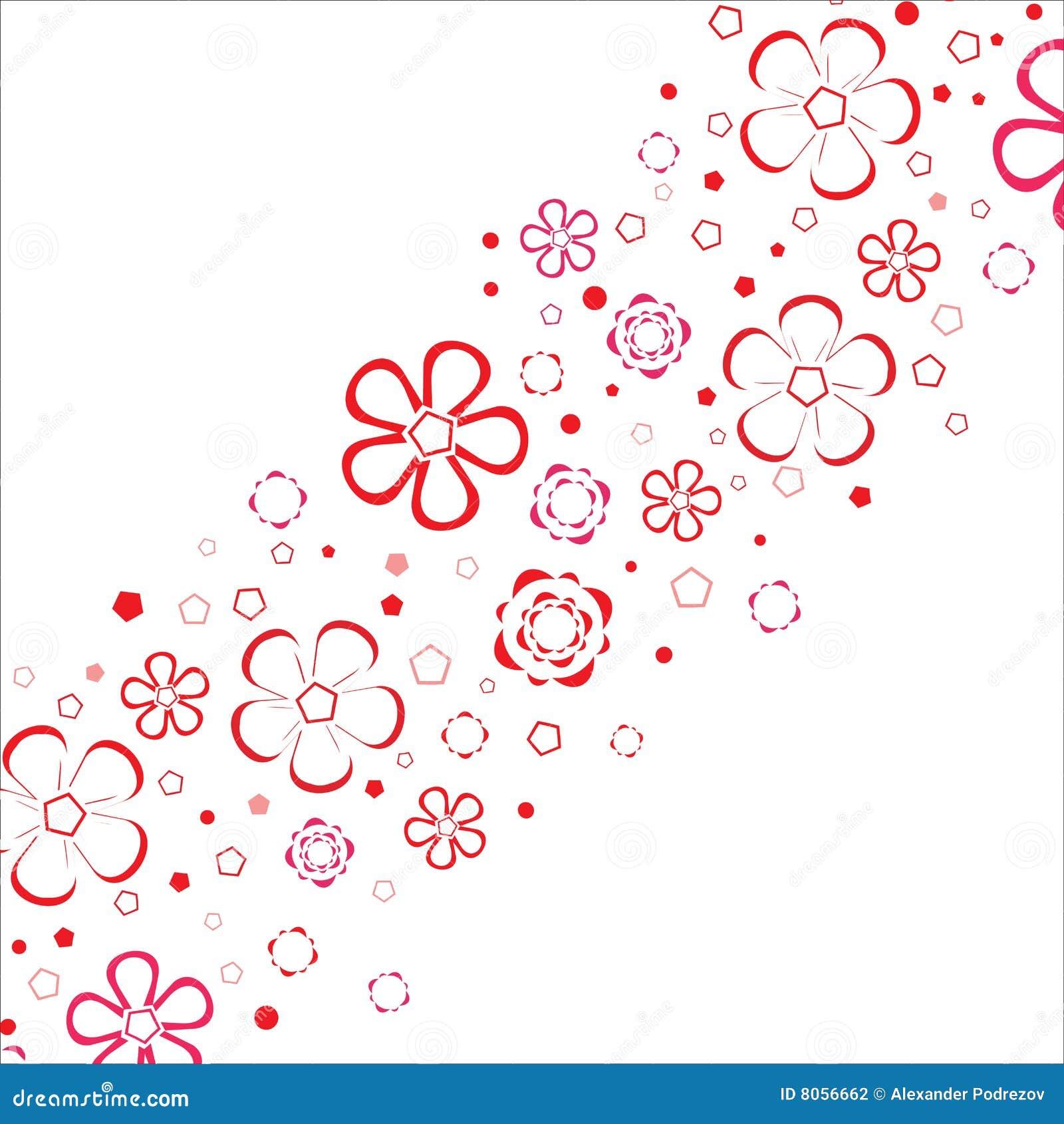 Blumenstreifen. Vektor.