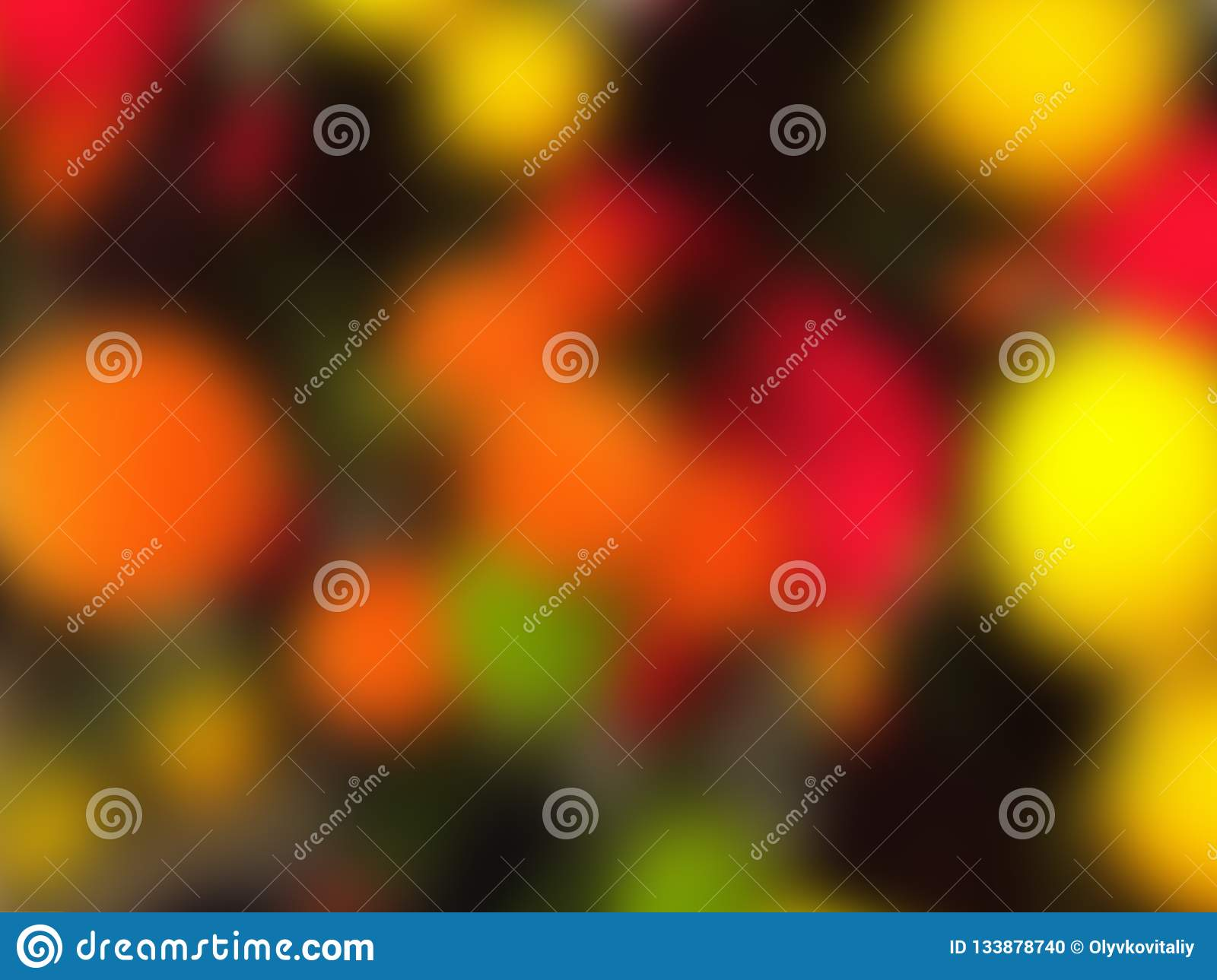 Blur background. Abstract multicolored colorful circles. Copy space