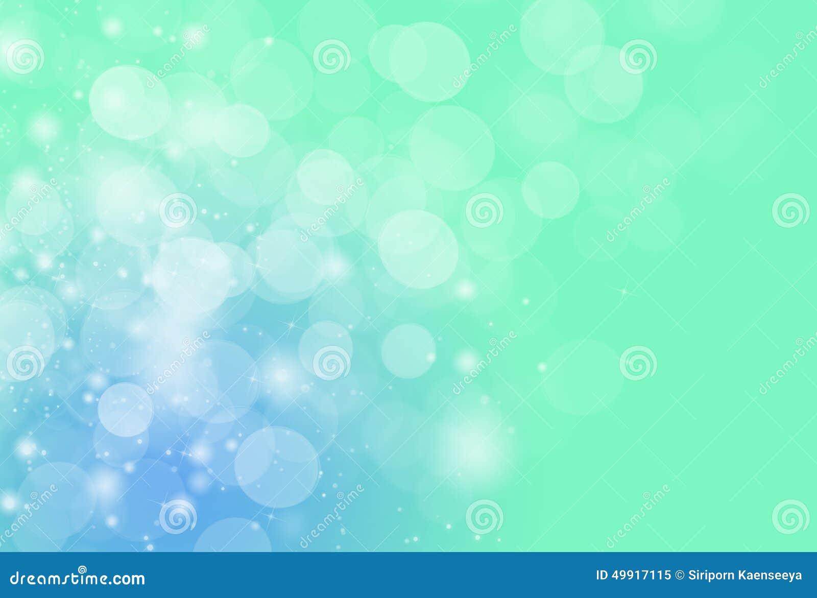 Blur Bokeh Light Effect Green Blue Background And Wallpaper