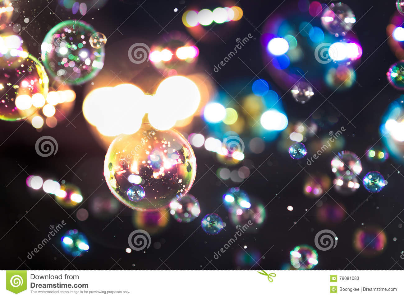 Blur Abstract Colorful Soap Bubbles Wallpaper Isolated On Black Background