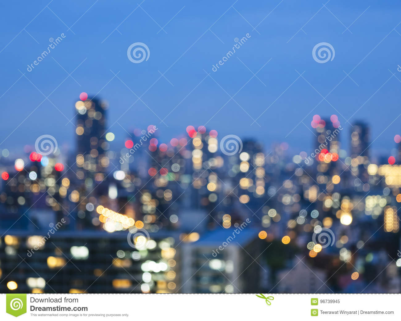 Download Blur City Scape Night Scene Skyline Building With Lighting Stock  Image   Image Of Japan