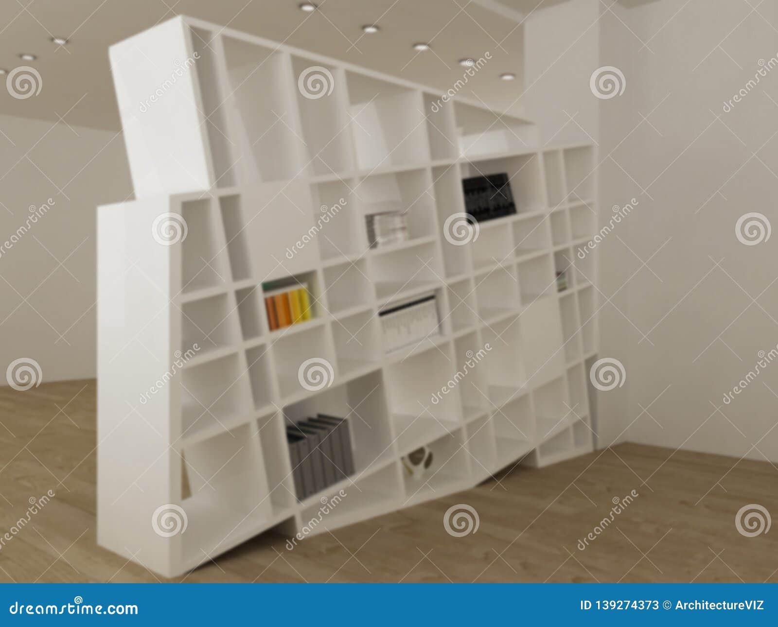 Blur Interior Design Concept Idea, Modern Minimalist White ...