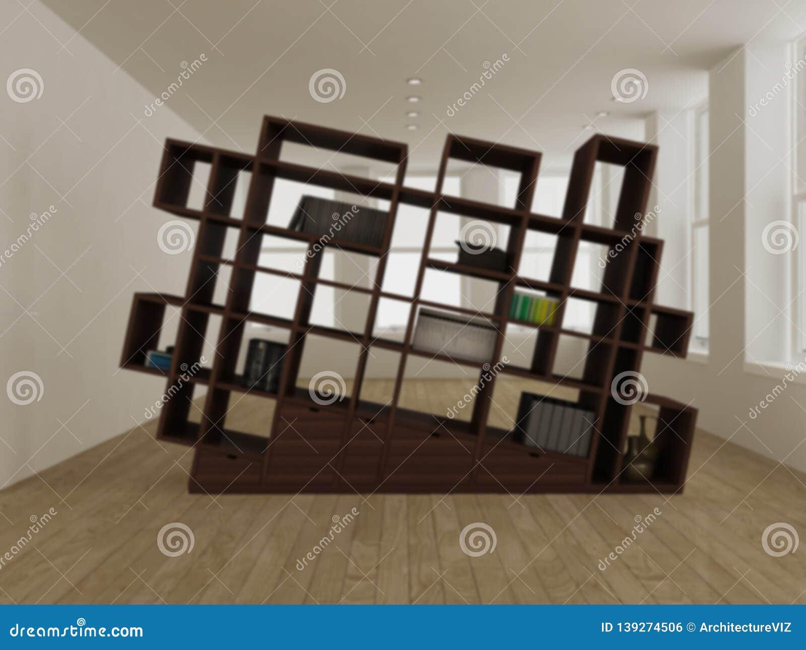 Blur Interior Design Concept Idea Modern Minimalist Wooden