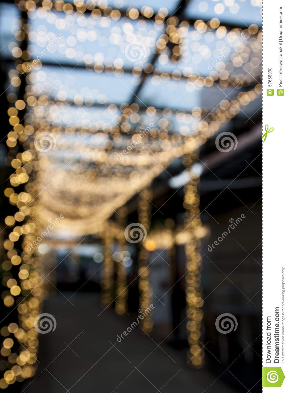 Blur pathway with bokeh light