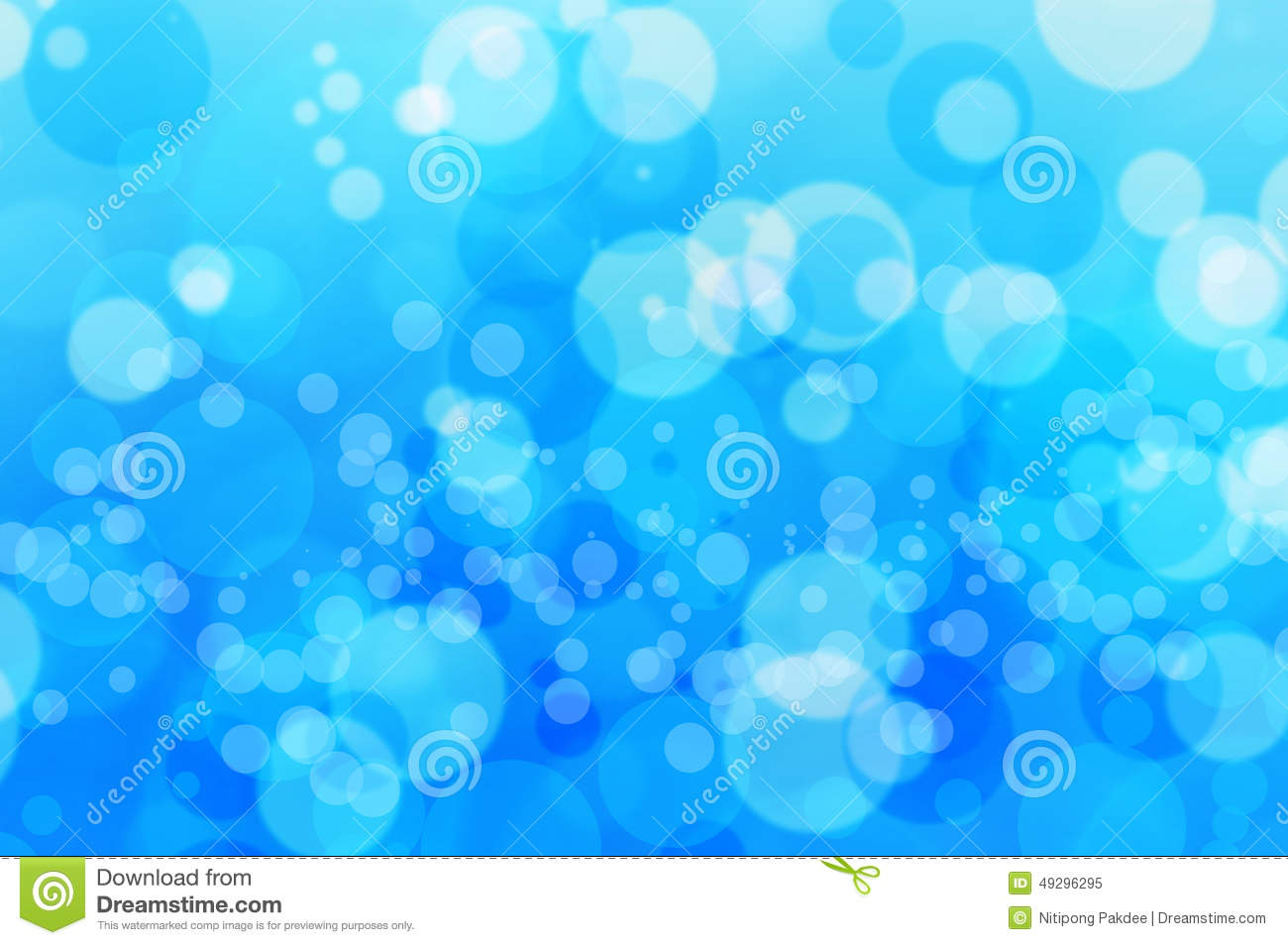 Blur Bokeh Blue Bubbles Water And Background Stock Photo ...