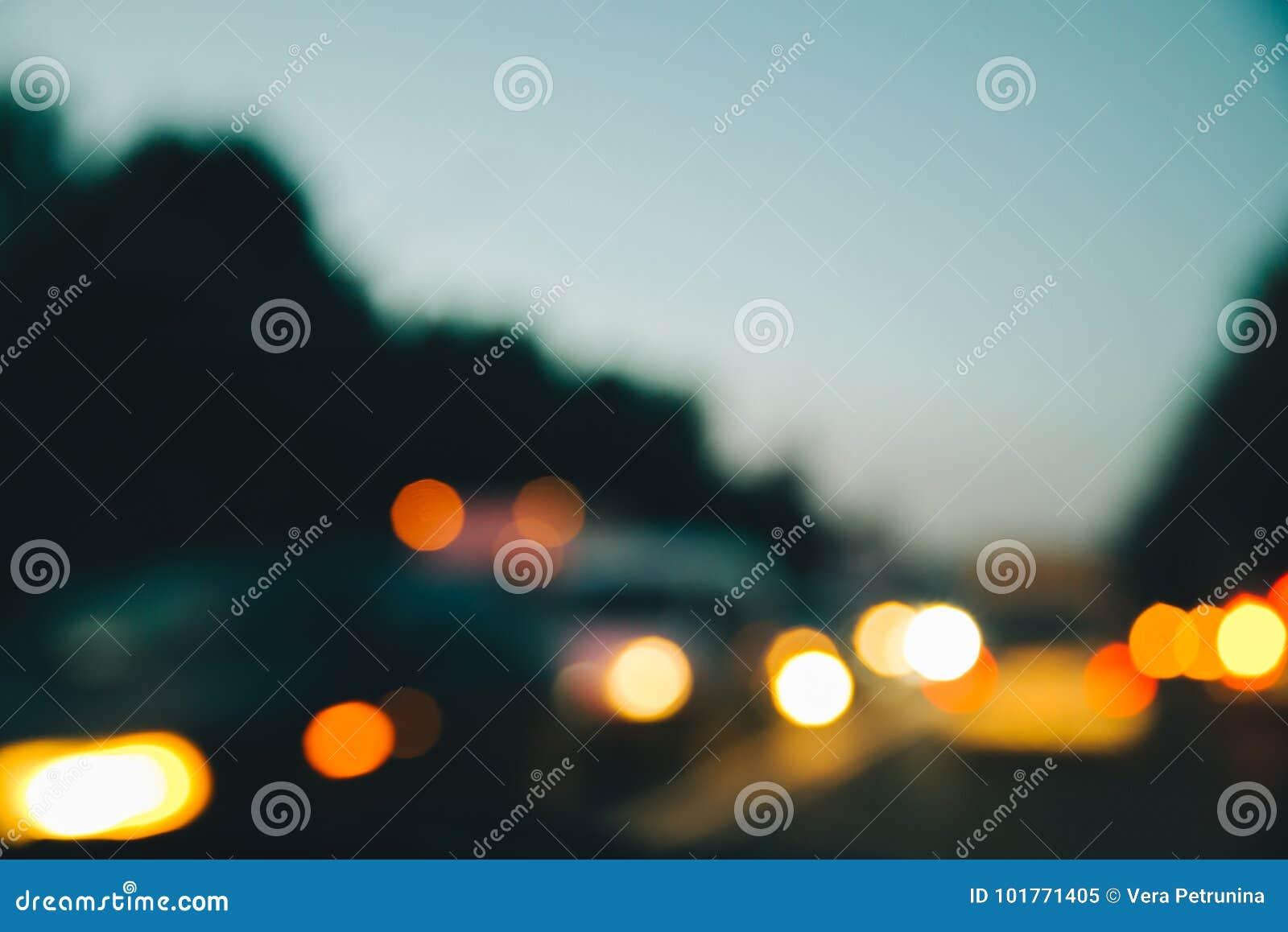 Blured汽车夜光