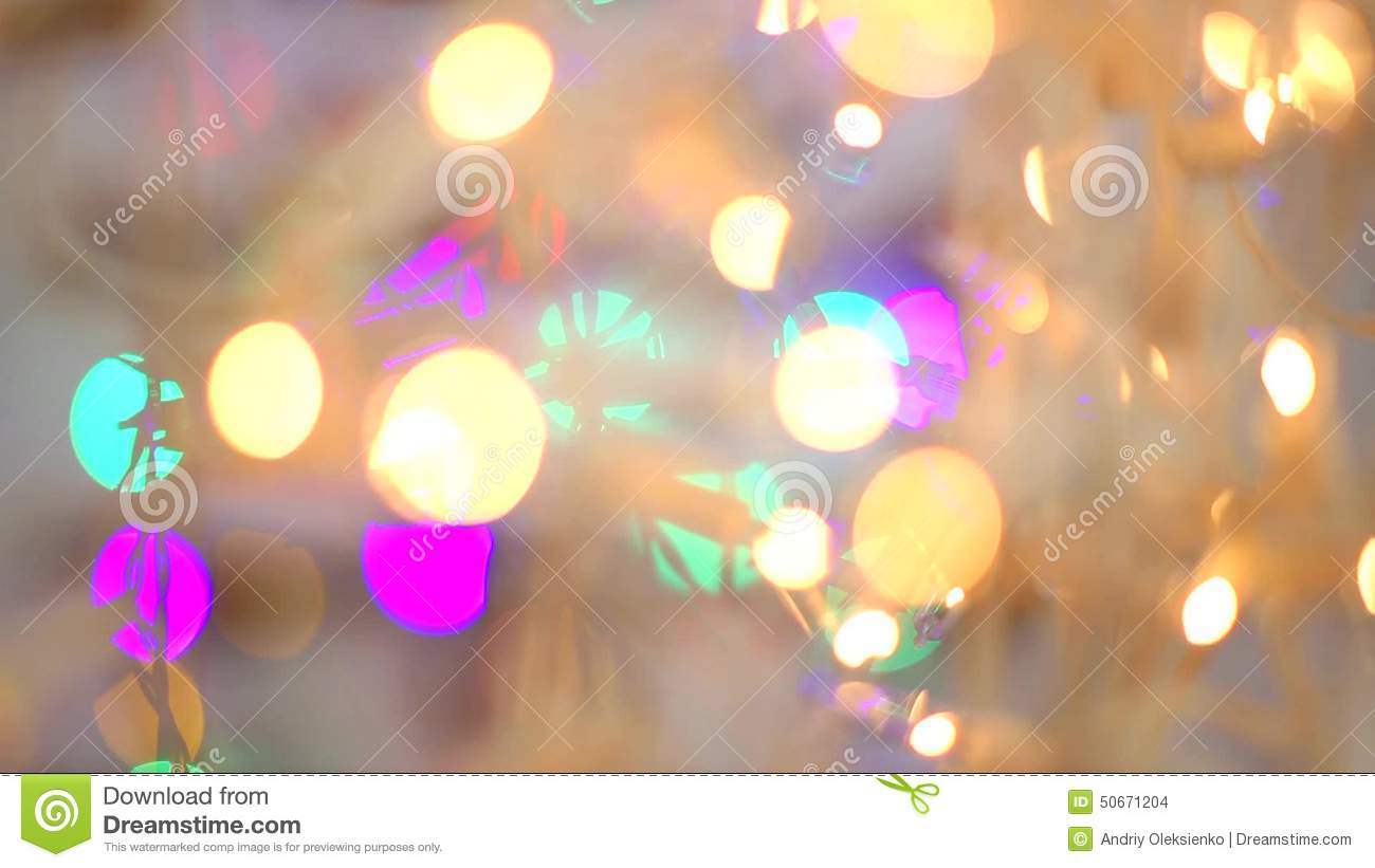blured blue orange yellow green purple golden lights christmas and new year decoration stock footage video of blink bokeh 50671204