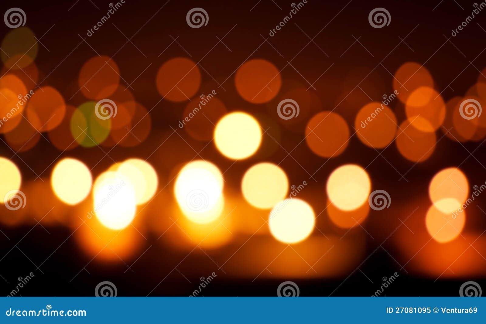 Blured orange Leuchten auf schwarzem Hintergrund