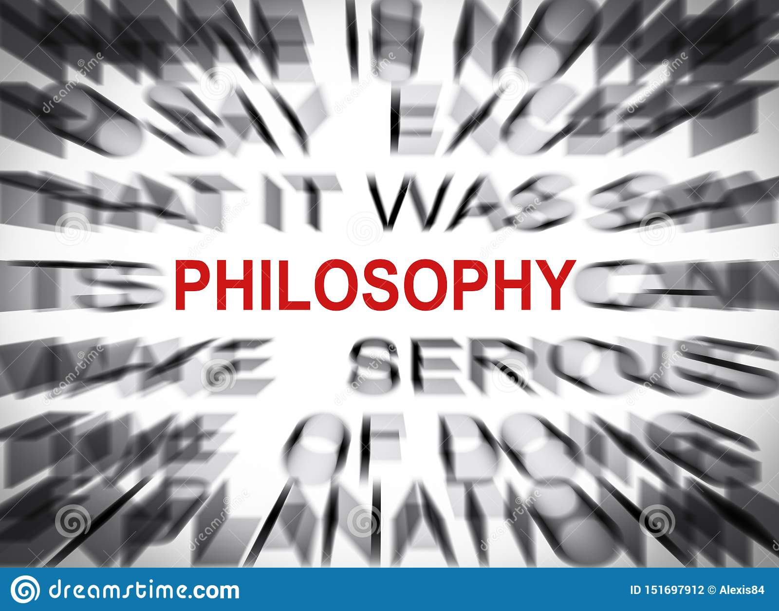 Blured text with focus on PHILOSOPHY