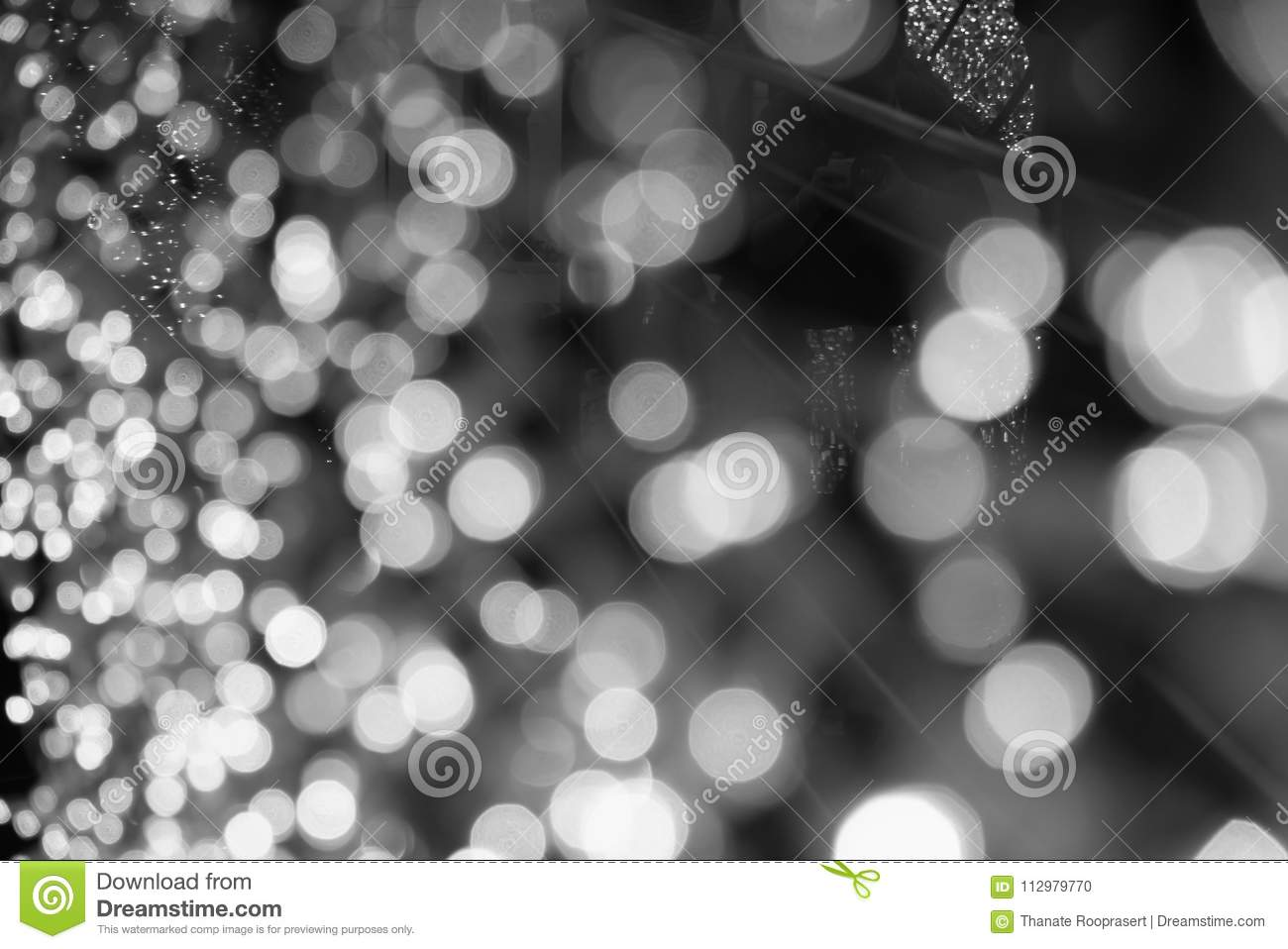 Blurred background with bokeh light.