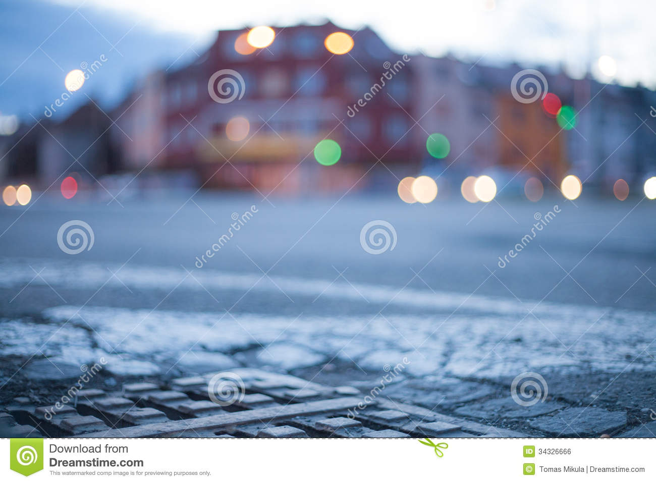 Blurred Background - Night Street With Street Lights Stock ...  Blurred Backgro...
