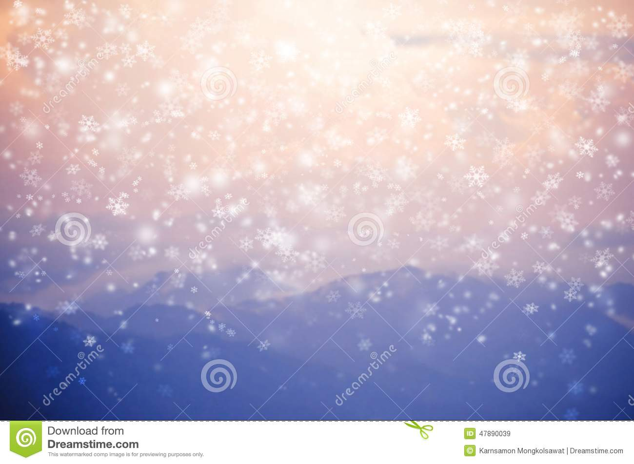 Top Wallpaper Mountain Blurry - blurred-background-snow-falling-blue-mountain-flakes-pink-sky-scene-47890039  You Should Have_187870.jpg