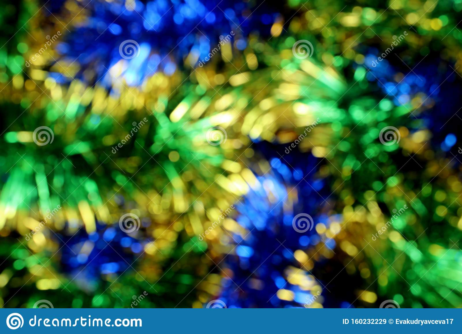 Blurred Blue Green Shiny Christmas Tinsel Texture For ...