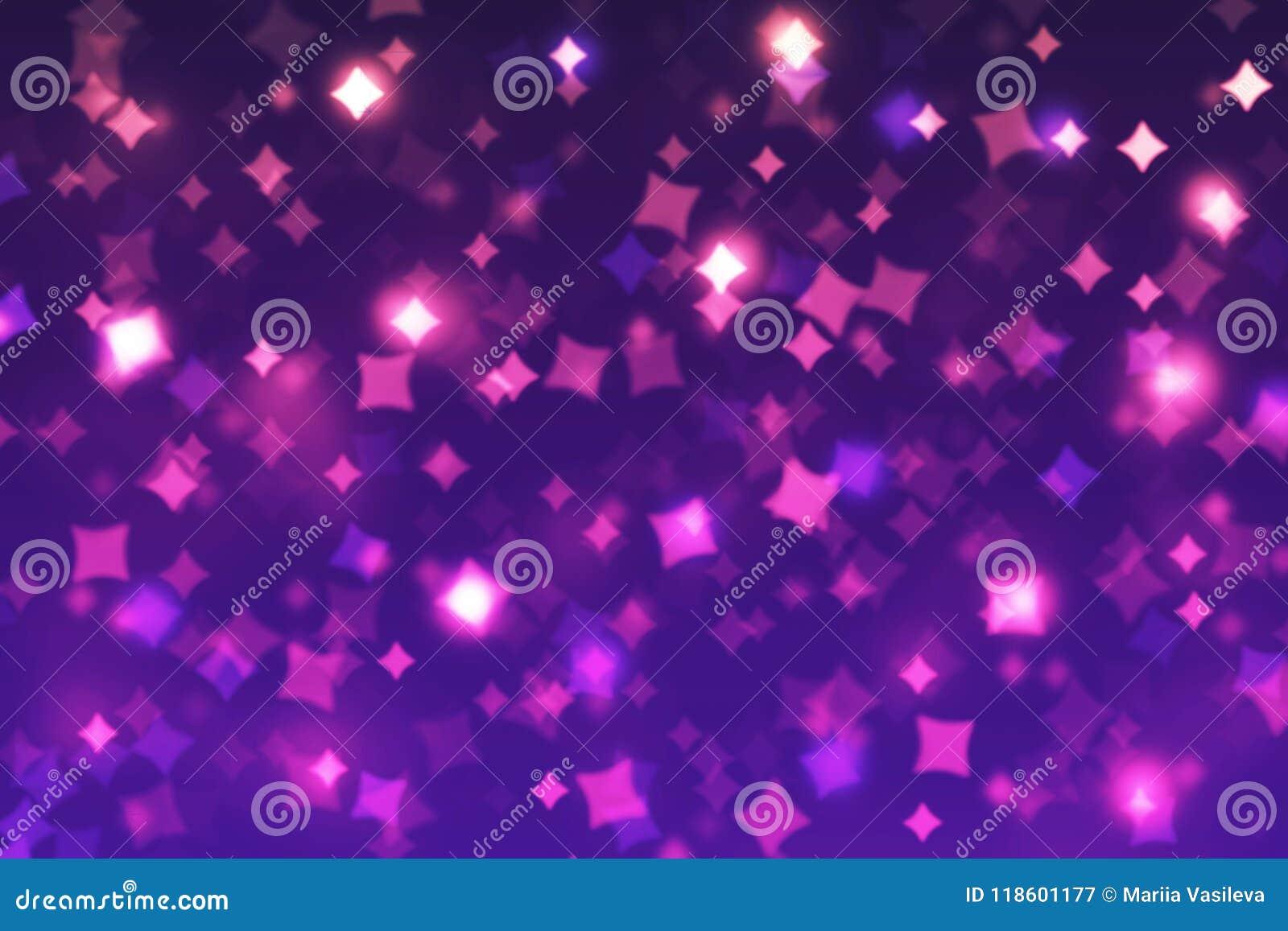 Blurred bokeh background rhombuses blue,purple,pink,black, birth