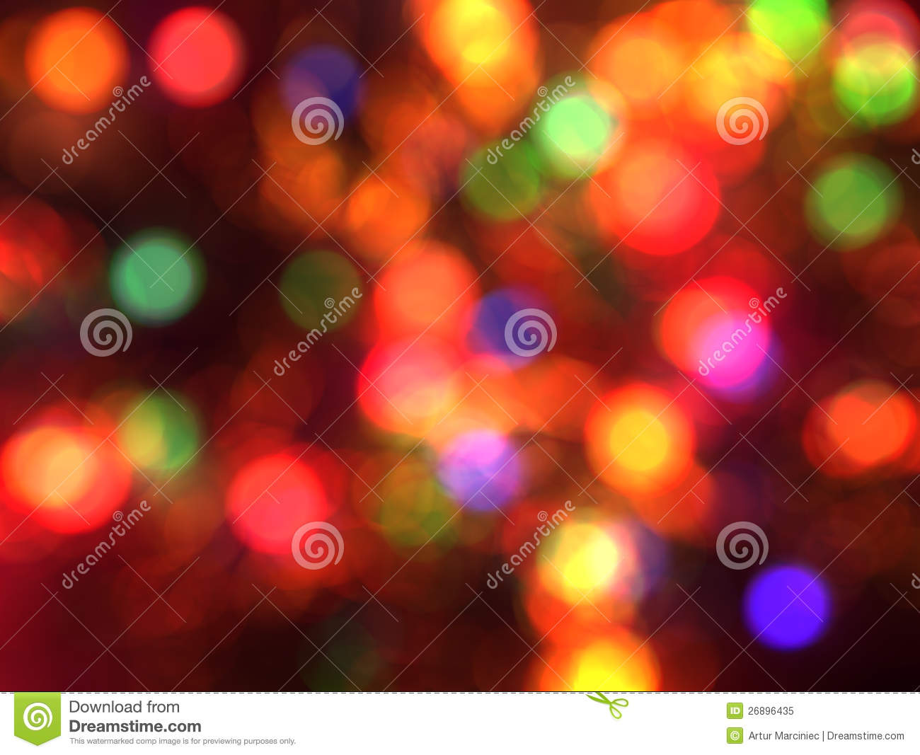 Blurred Christmas Lights Background. Stock Image - Image ...