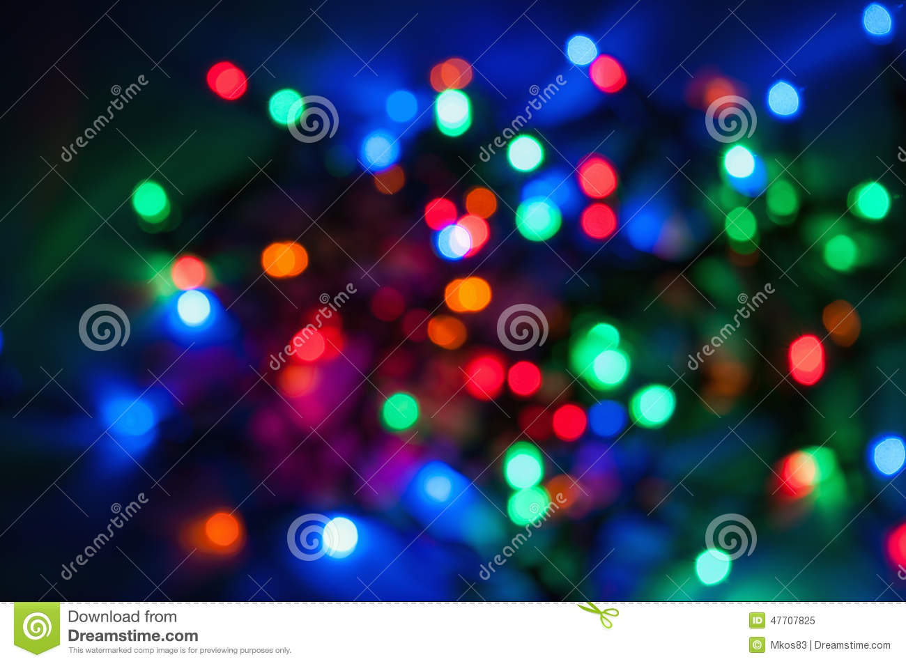 Blurred Colored Christmas Lights Background Stock Photo ...