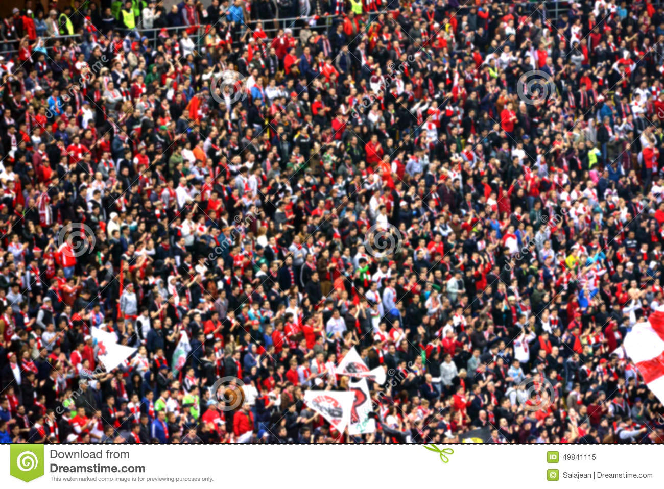 Blurred Crowd Of People In A Stadium Stock Image - Image ...