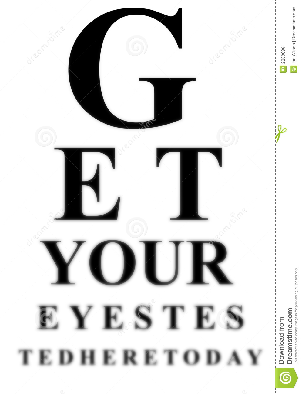 Blurred eye test chart stock illustration illustration of here blurred eye test chart geenschuldenfo Image collections