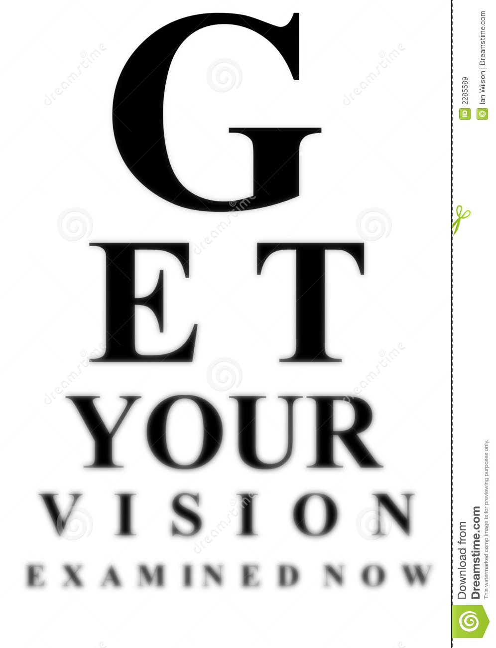 Blurred Eye Test Chart Stock Illustration Illustration Of Today