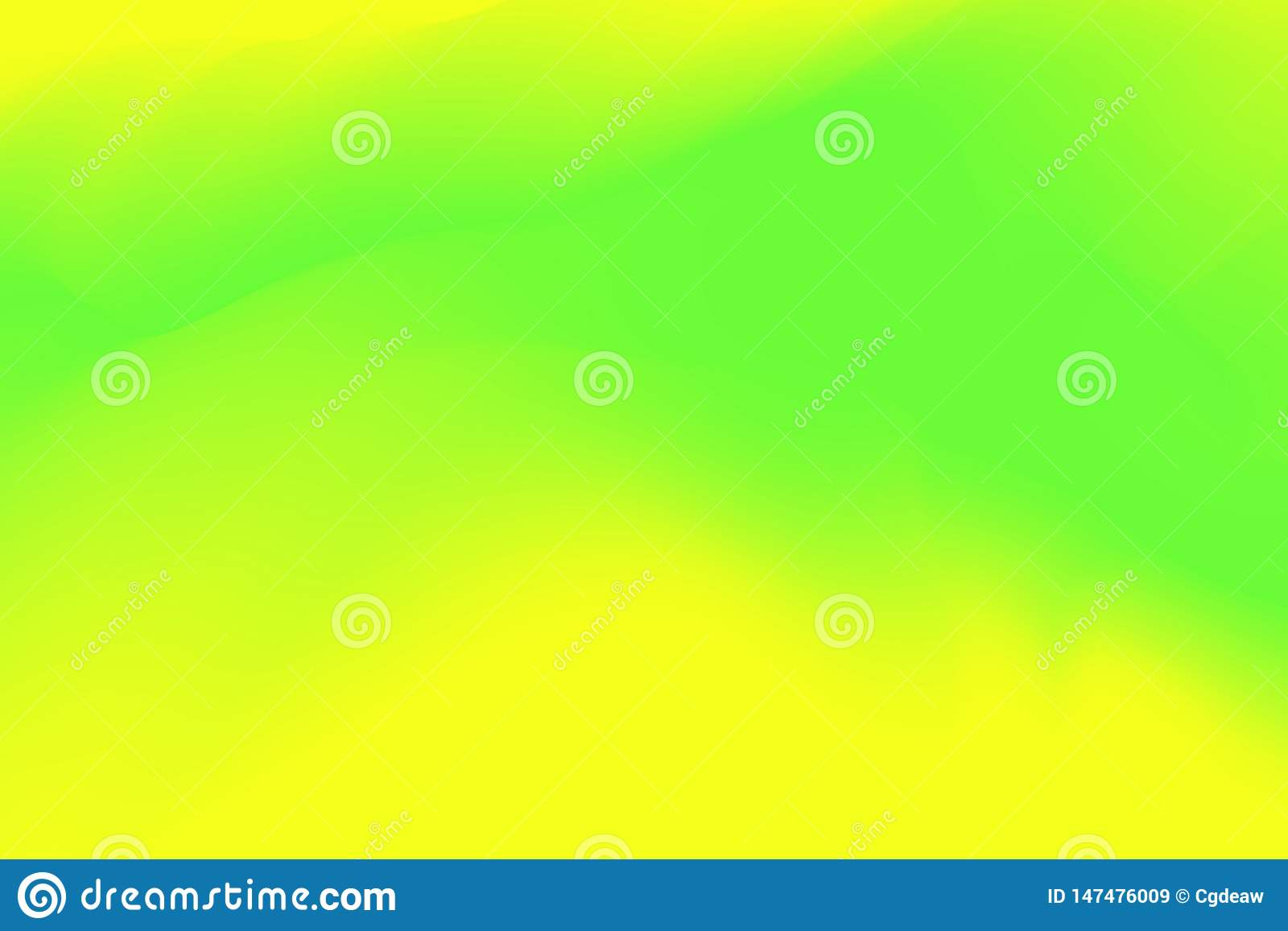 Blurred green and yellow pastel colors soft wave colorful effect for background abstract, illustration gradient in water color art