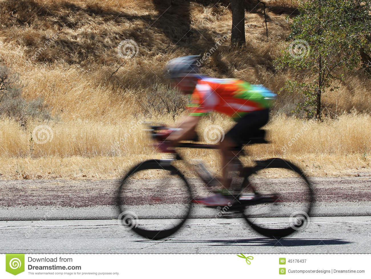 Download A Blurred Image Of A Speeding Bike Rider. Stock Image - Image of cyclist, fitness: 45176437