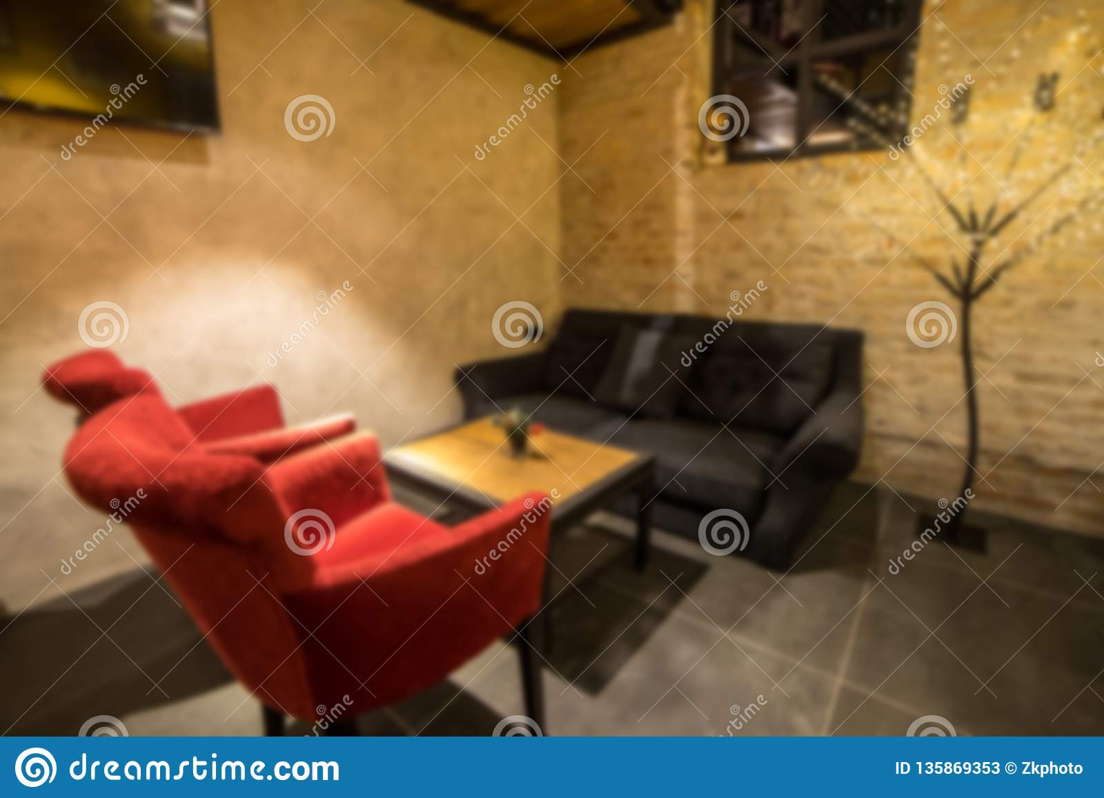 Blurred Modern Coffee Shop For Use As Background Cafe Restaurant Interior Stock Image Image Of People Retail 135869353