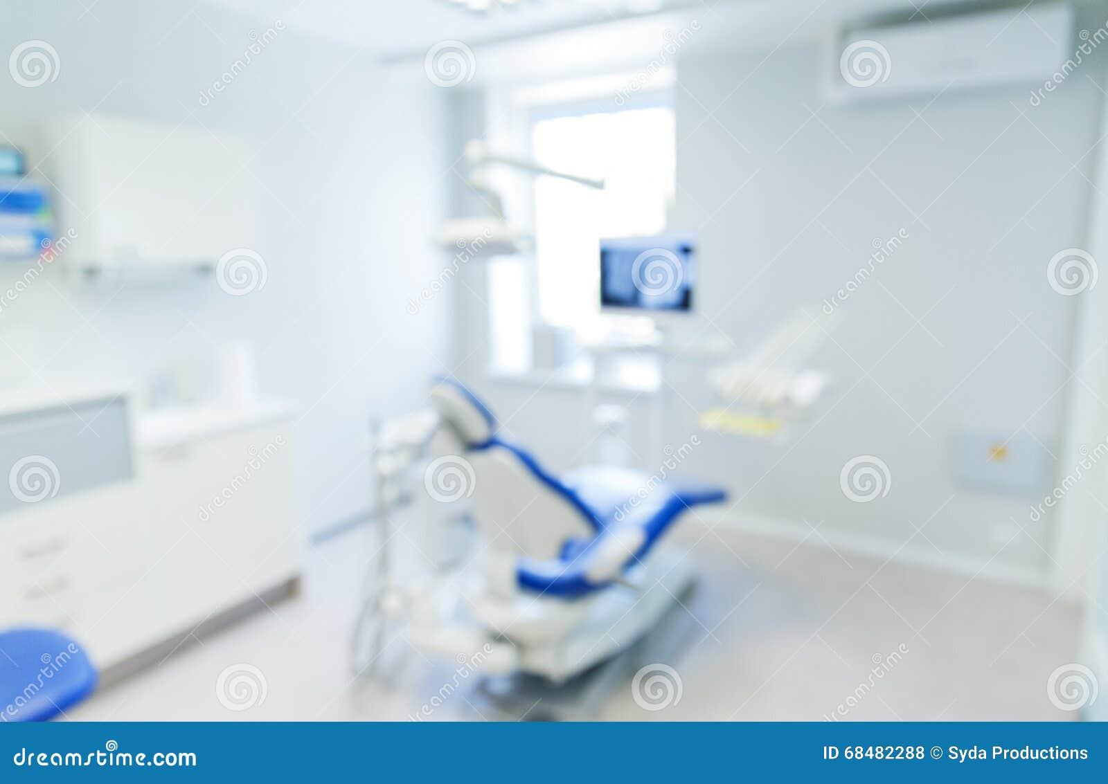 Blurred Modern Dental Clinic Office Interior Bokeh Stock