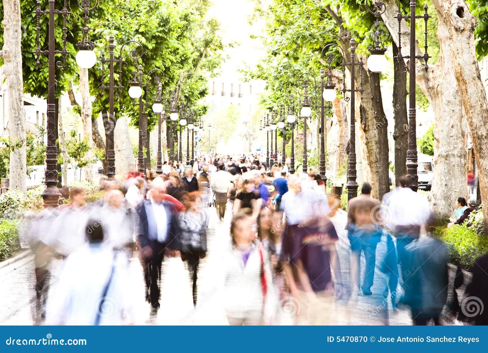 Blurred People Stock Photo - Image: 5470870