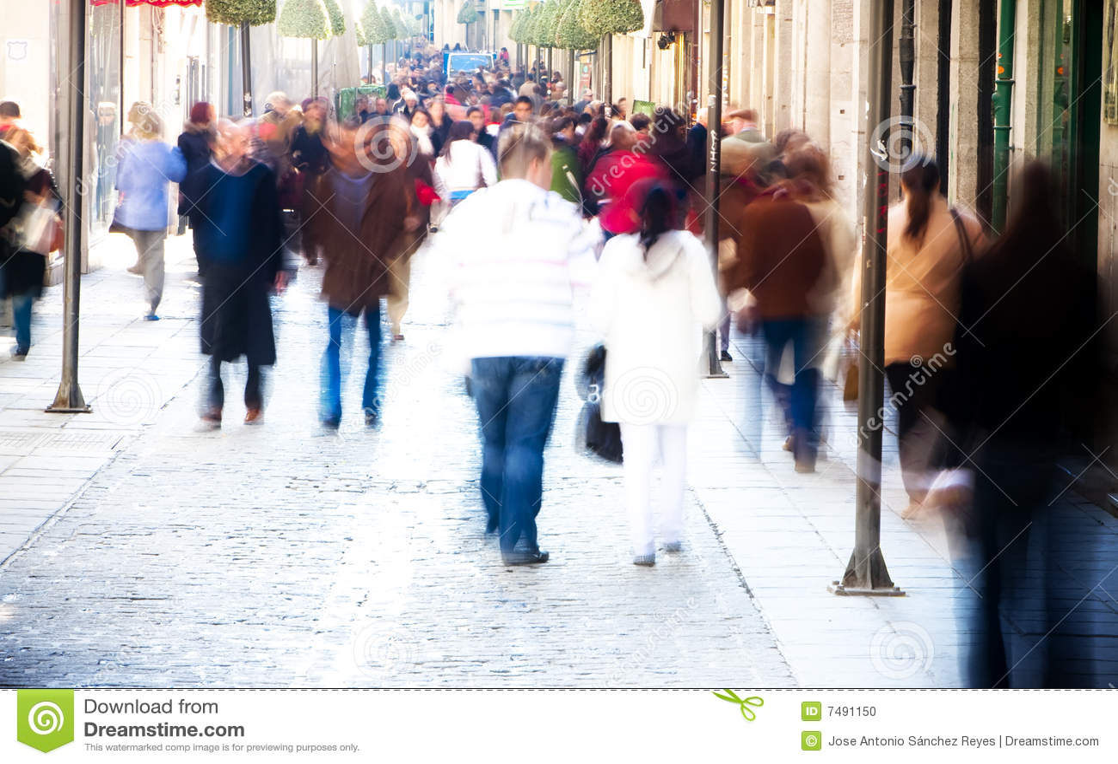 Blurred People Stock Photo - Image: 7491150
