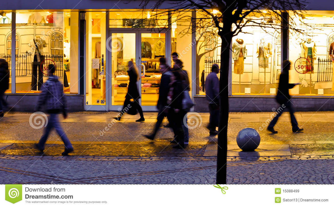Blurred People In The City Royalty Free Stock Images ...