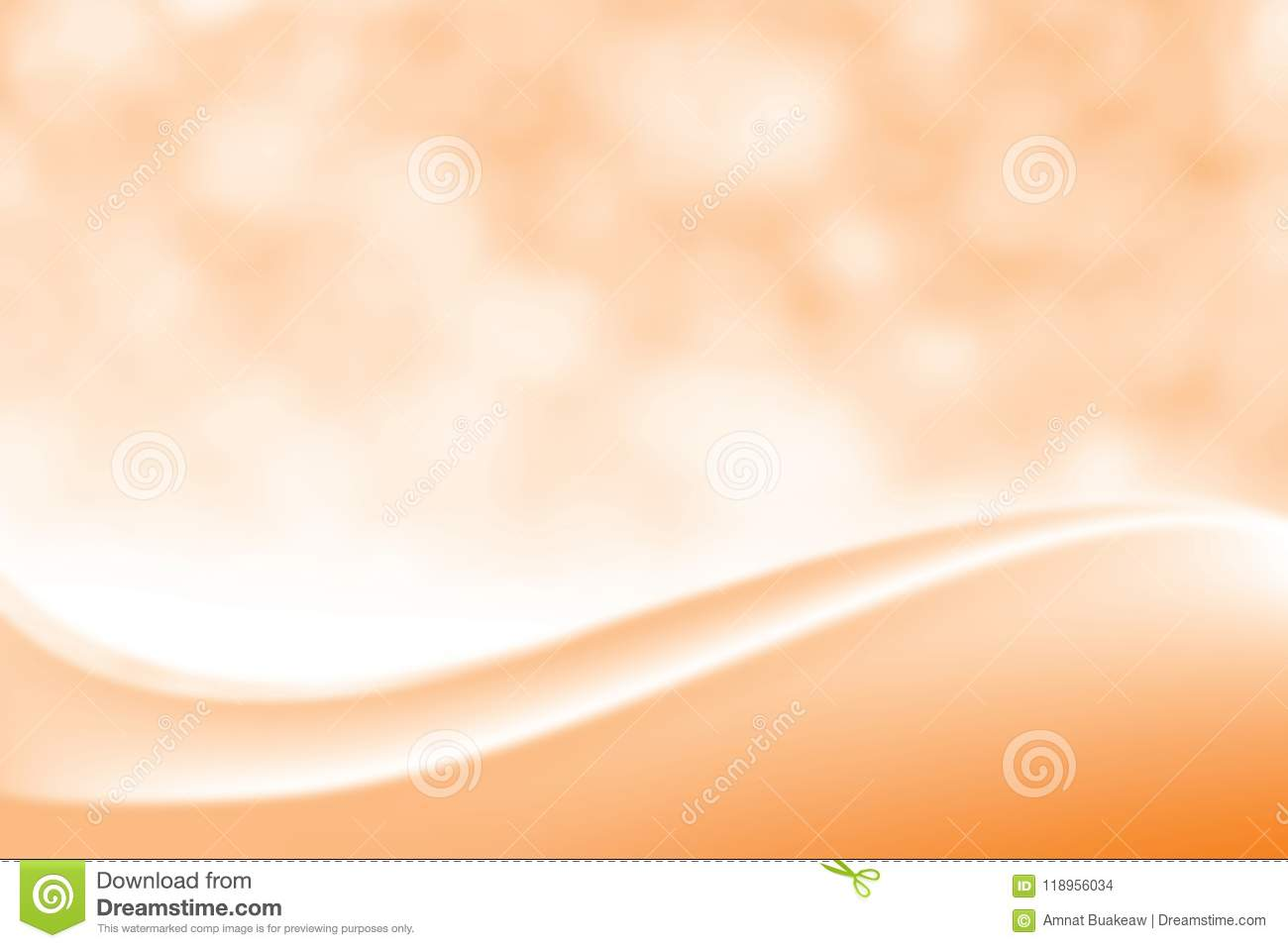 Blurred Smooth orange elegant soft beauty background, Luxurious Cosmetic backdrop Bokeh soft light shade, Gradient colour sweet