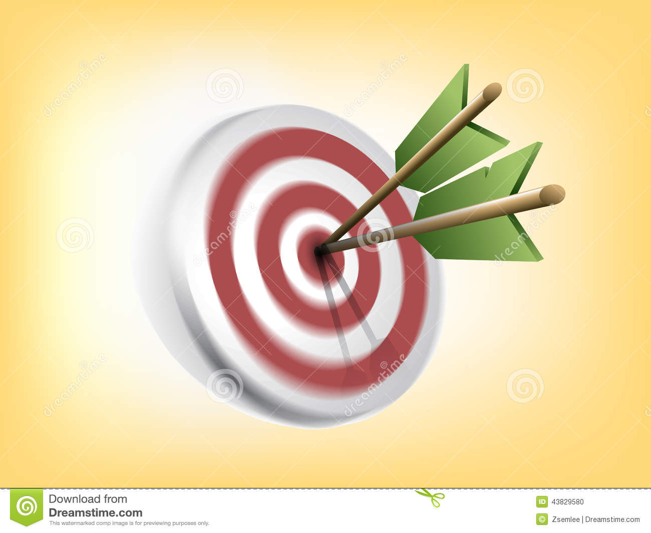 Blurred Target with Arrows