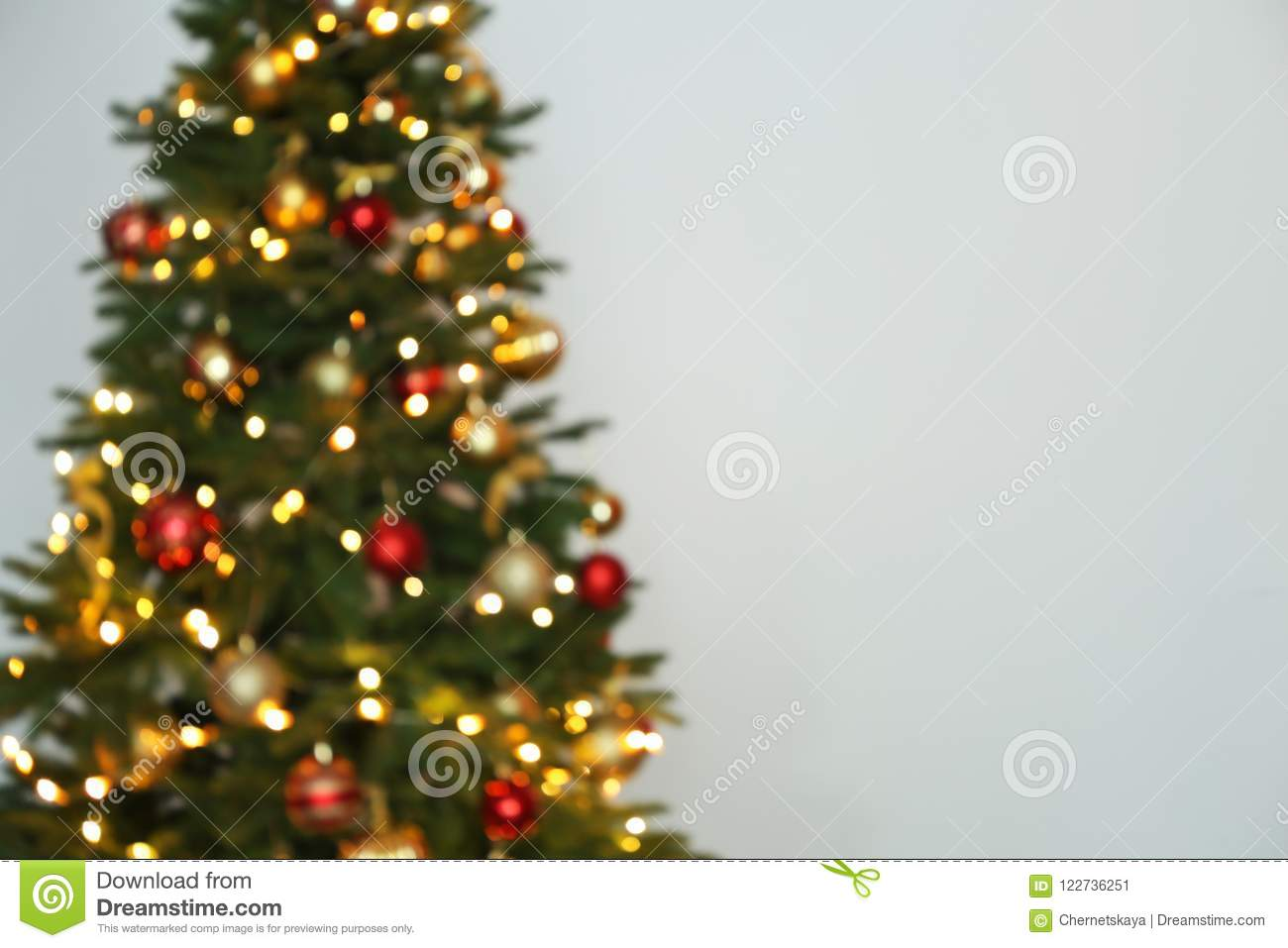 download blurred view of christmas tree with fairy lights stock image image of festive